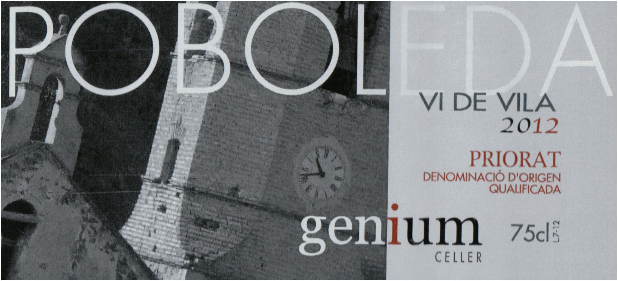 Genium Celler Vi De Villa Priorat 2012