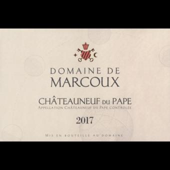 Label shot for 2017 Domaine De Marcoux Chateauneuf Du Pape Rouge Magnum