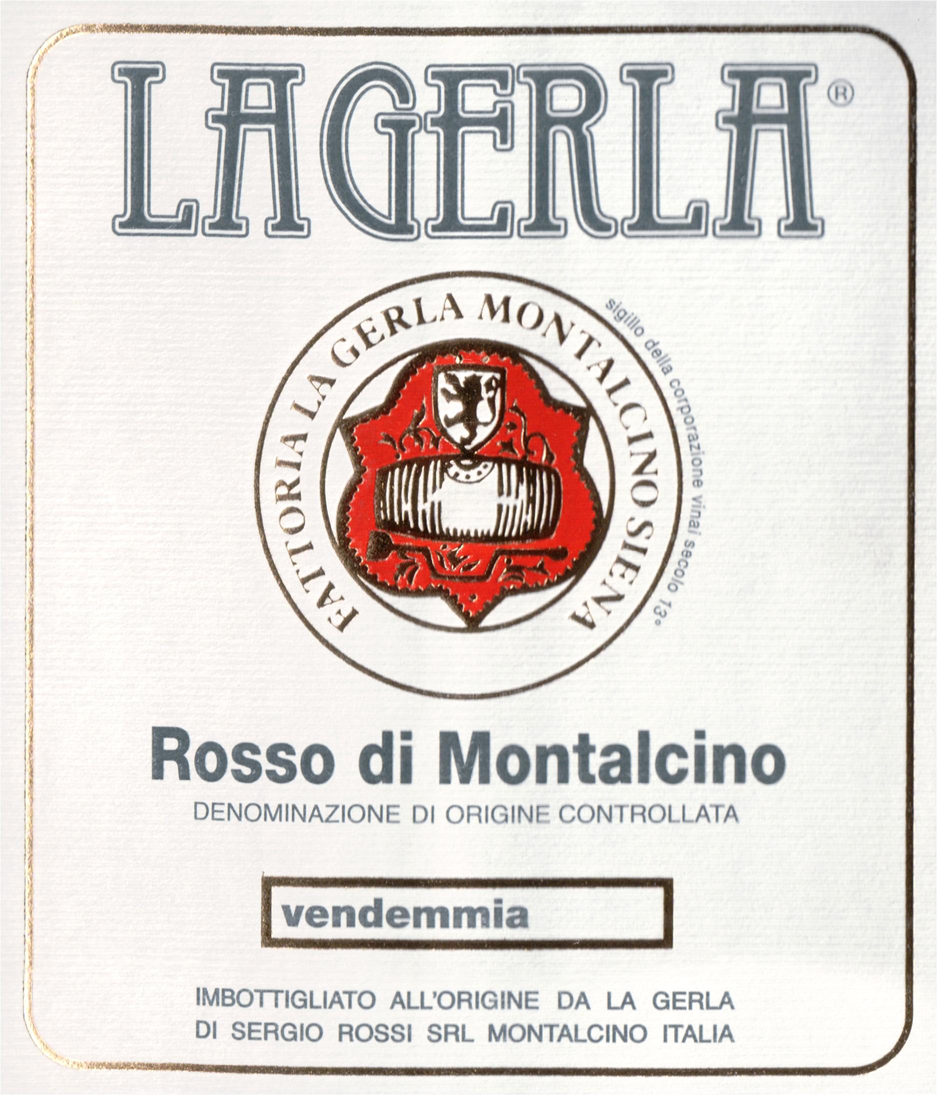 La Gerla Rosso Di Montalcino 2017