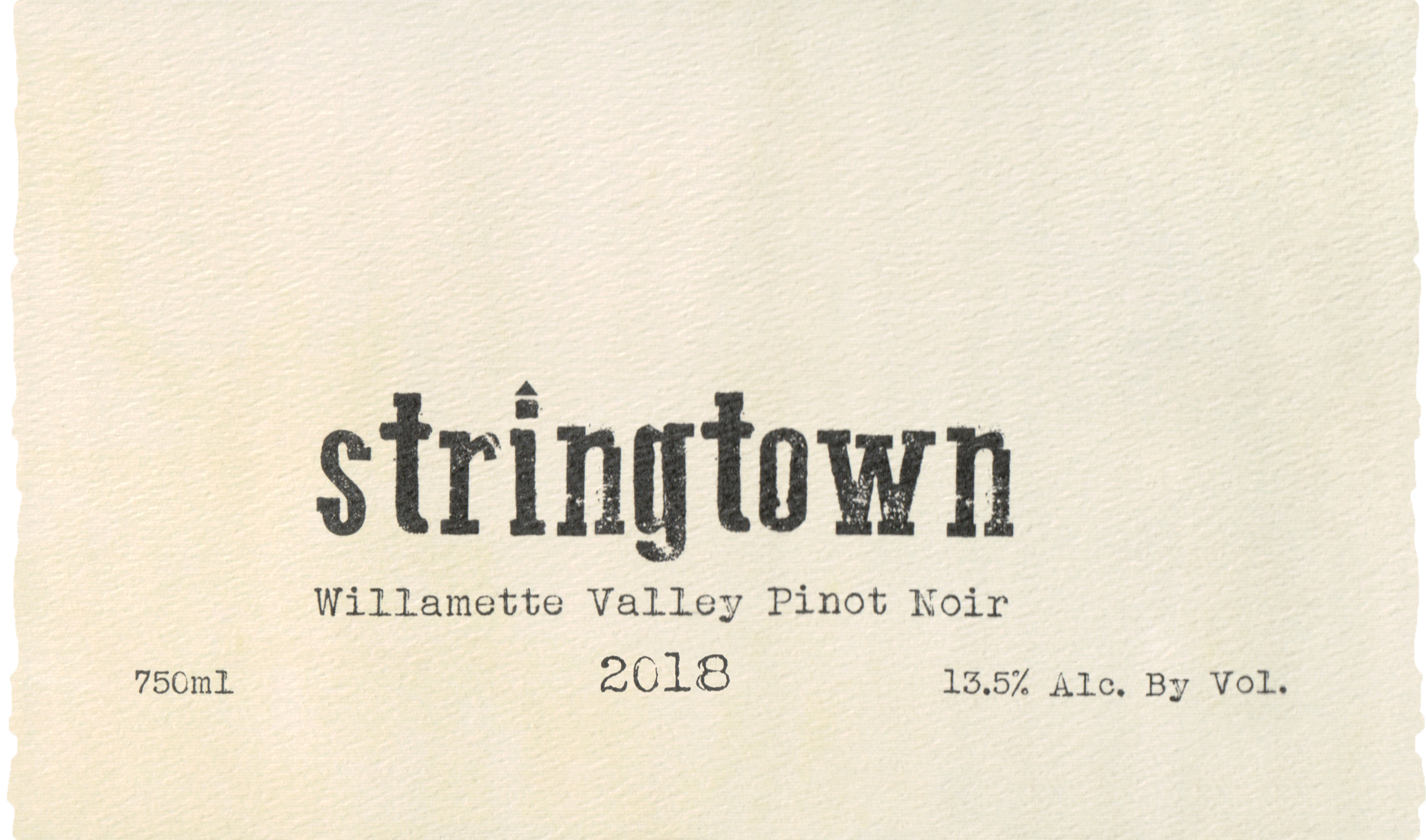 Stringtown Pinot Noir Willamette Valley 2018