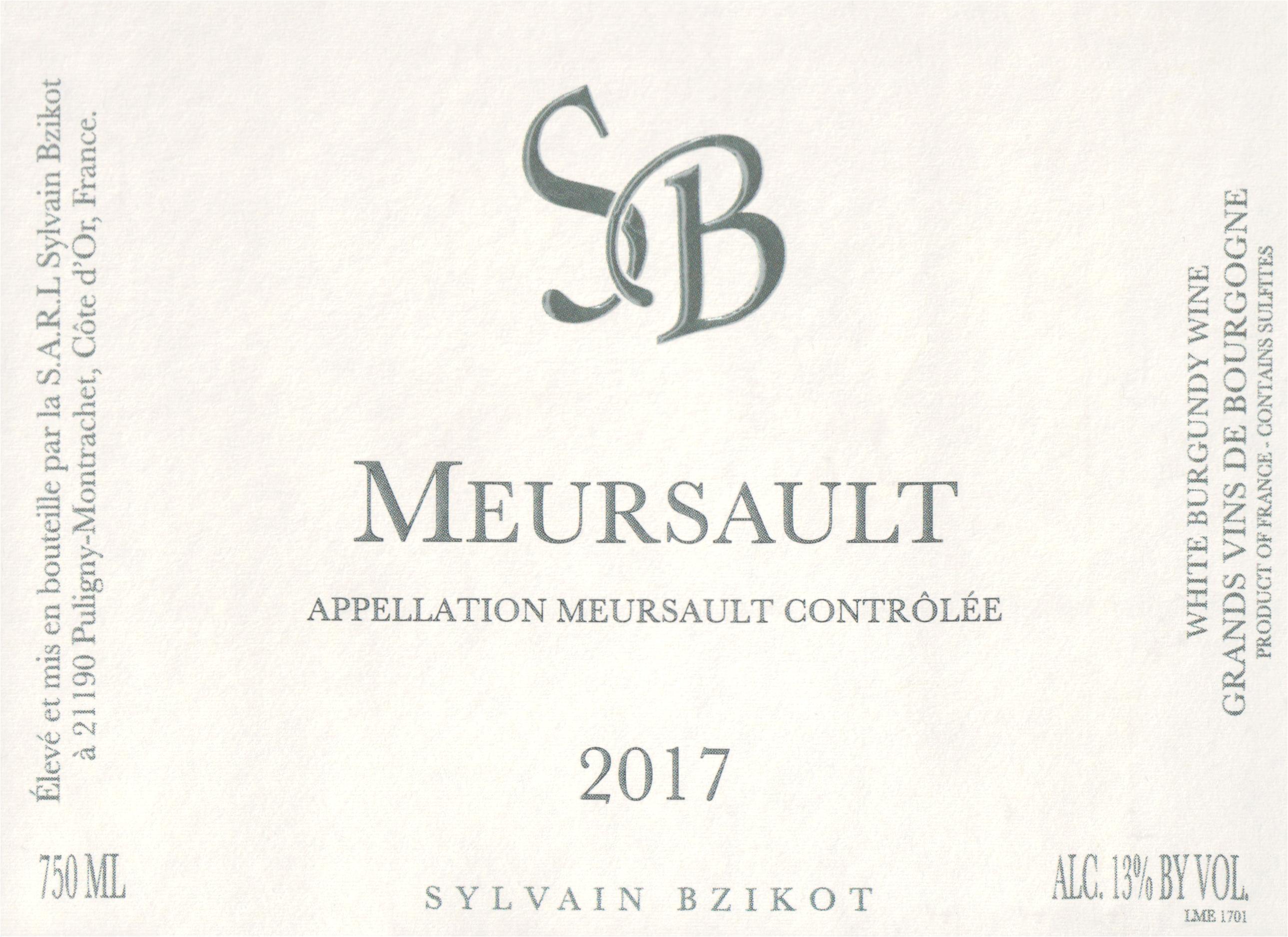 Sylvain Bzikot Meursault 2017