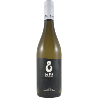 Bottle shot for 2018 Te Pa Pinot Gris