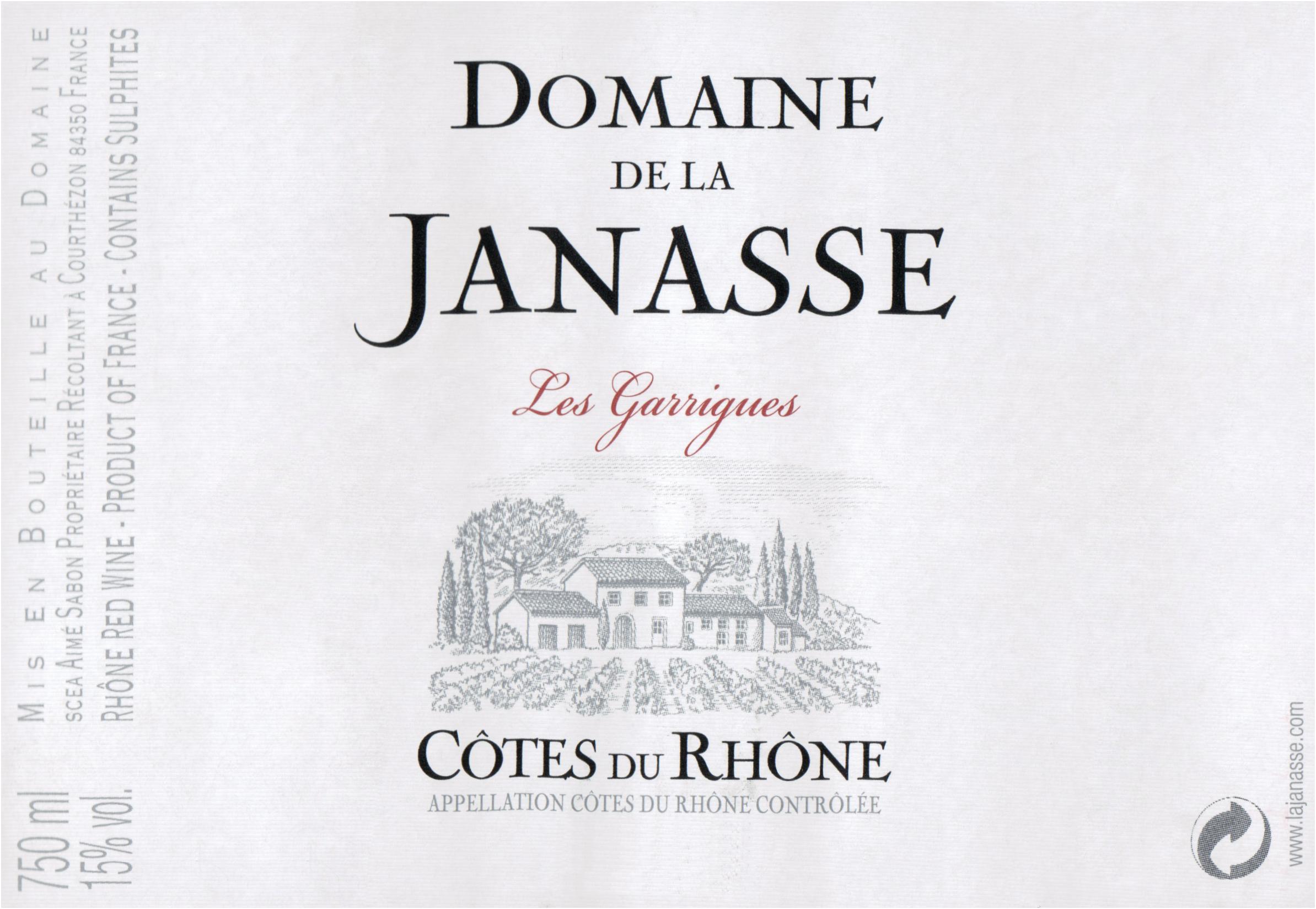 Janasse Cotes Du Rhone Les Garrigues 2017