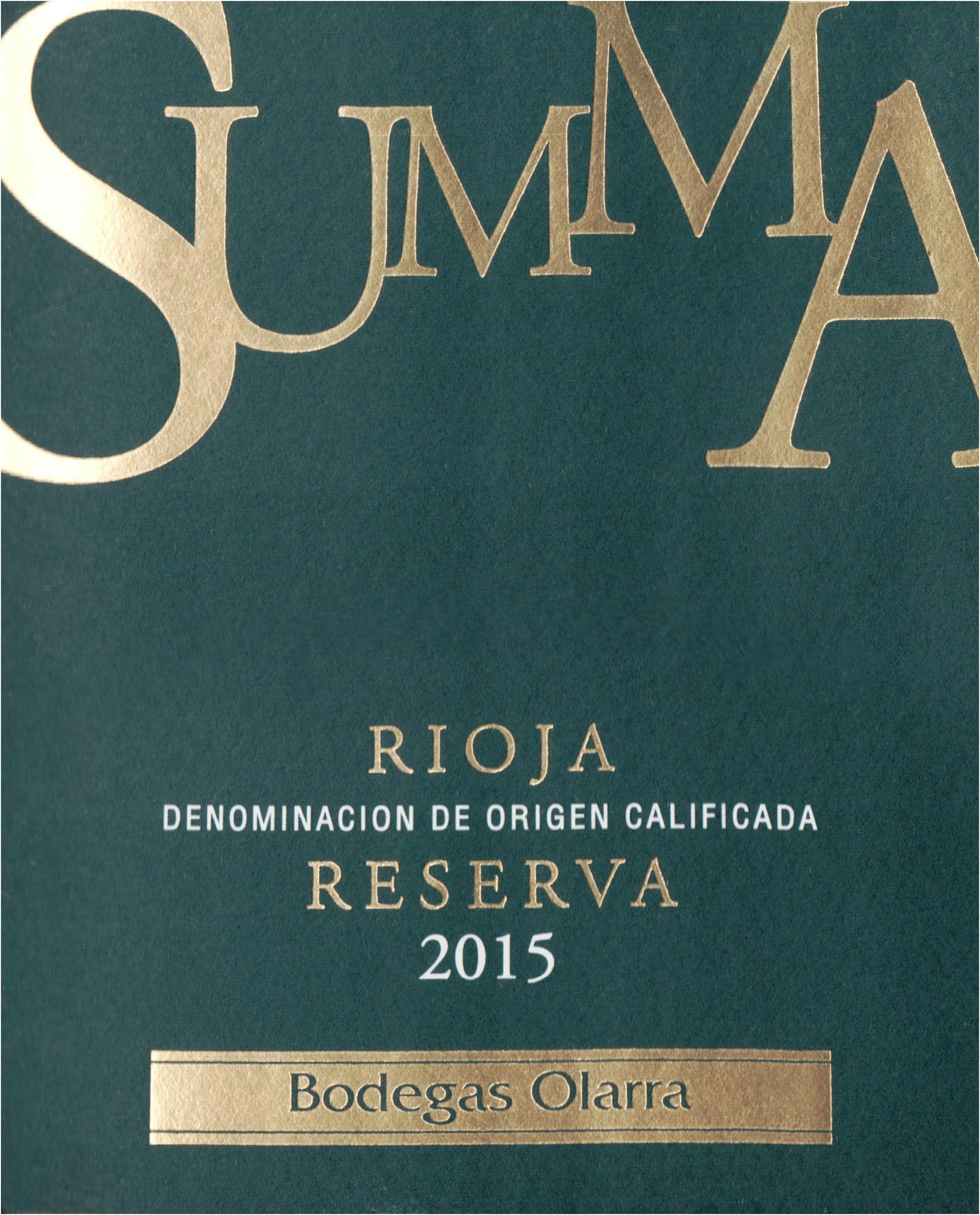 Bodegas Olarra Summa Rioja 2015