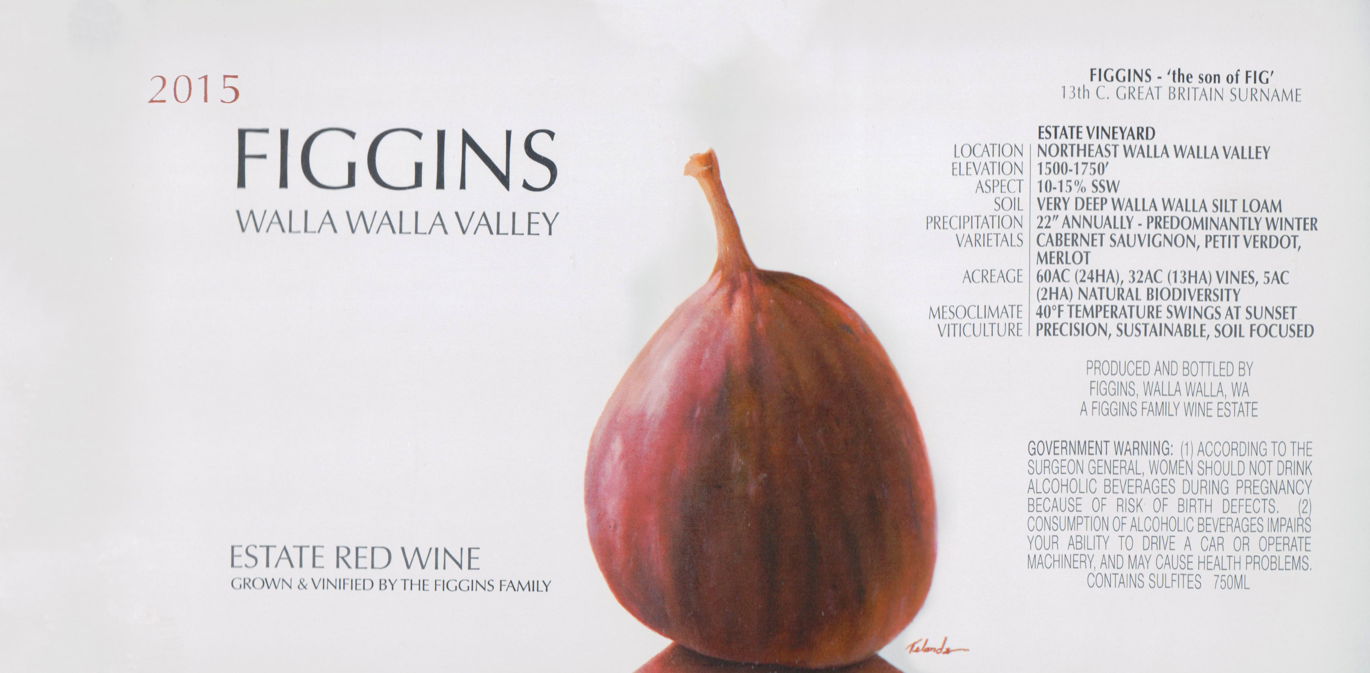 Figgins Estate Red Walla Walla Valley 2015