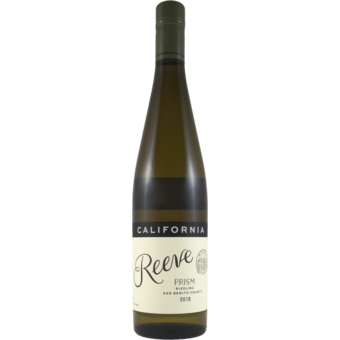 Bottle shot for 2018 Reeve Wines San Benito Riesling