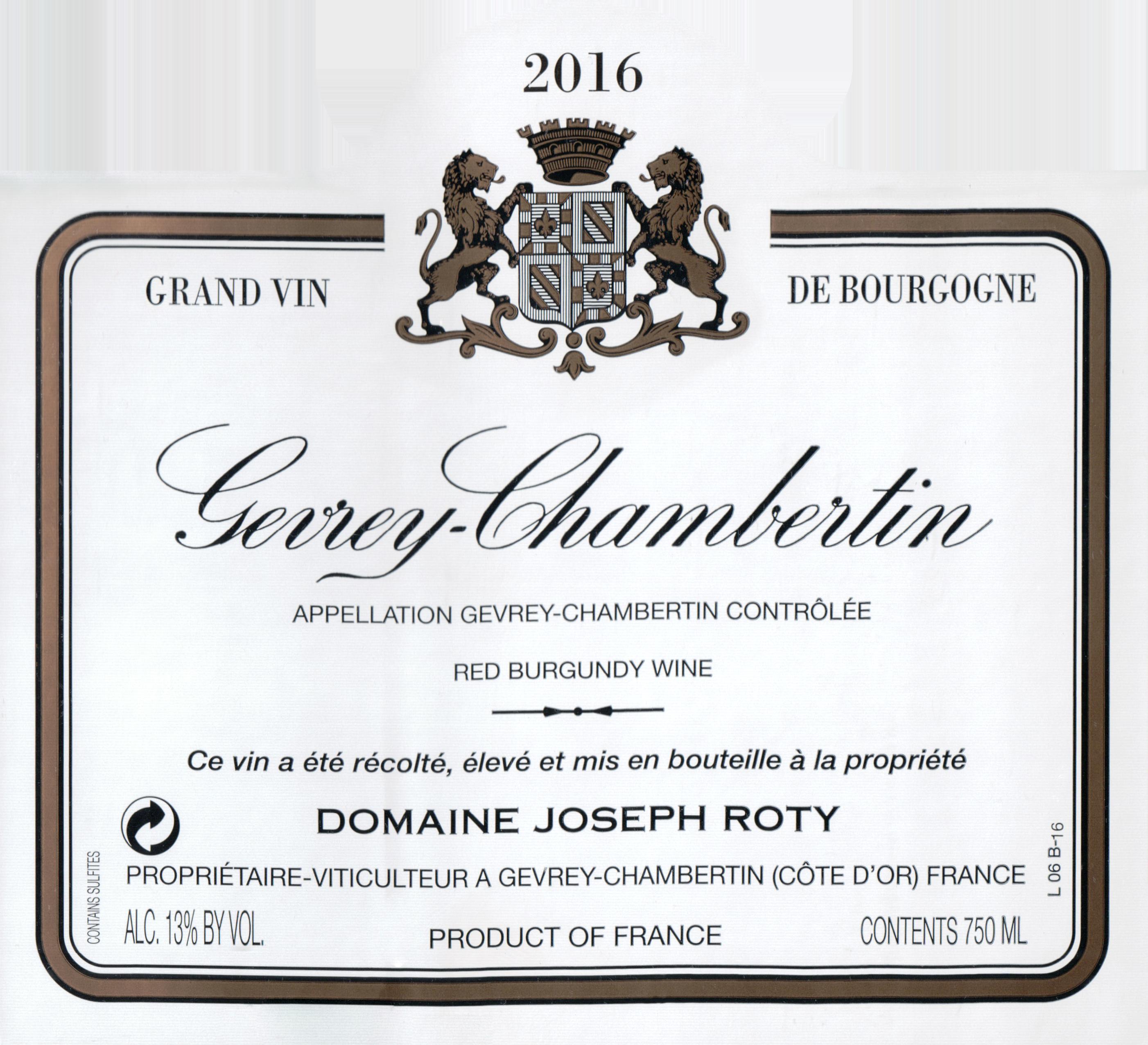 Joseph Roty Gevrey Chambertin 2016