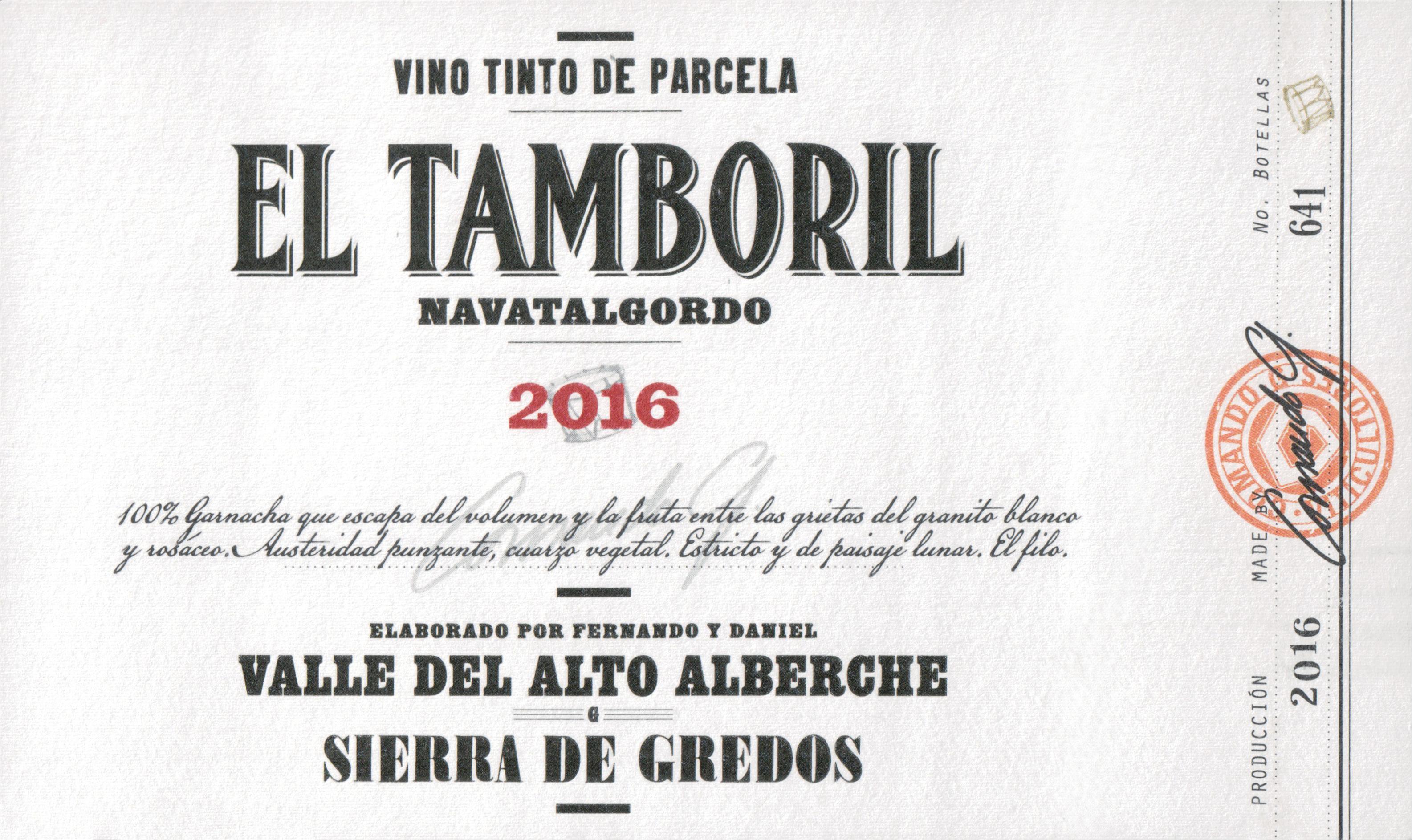Comando G El Tamboril Tinto 2016