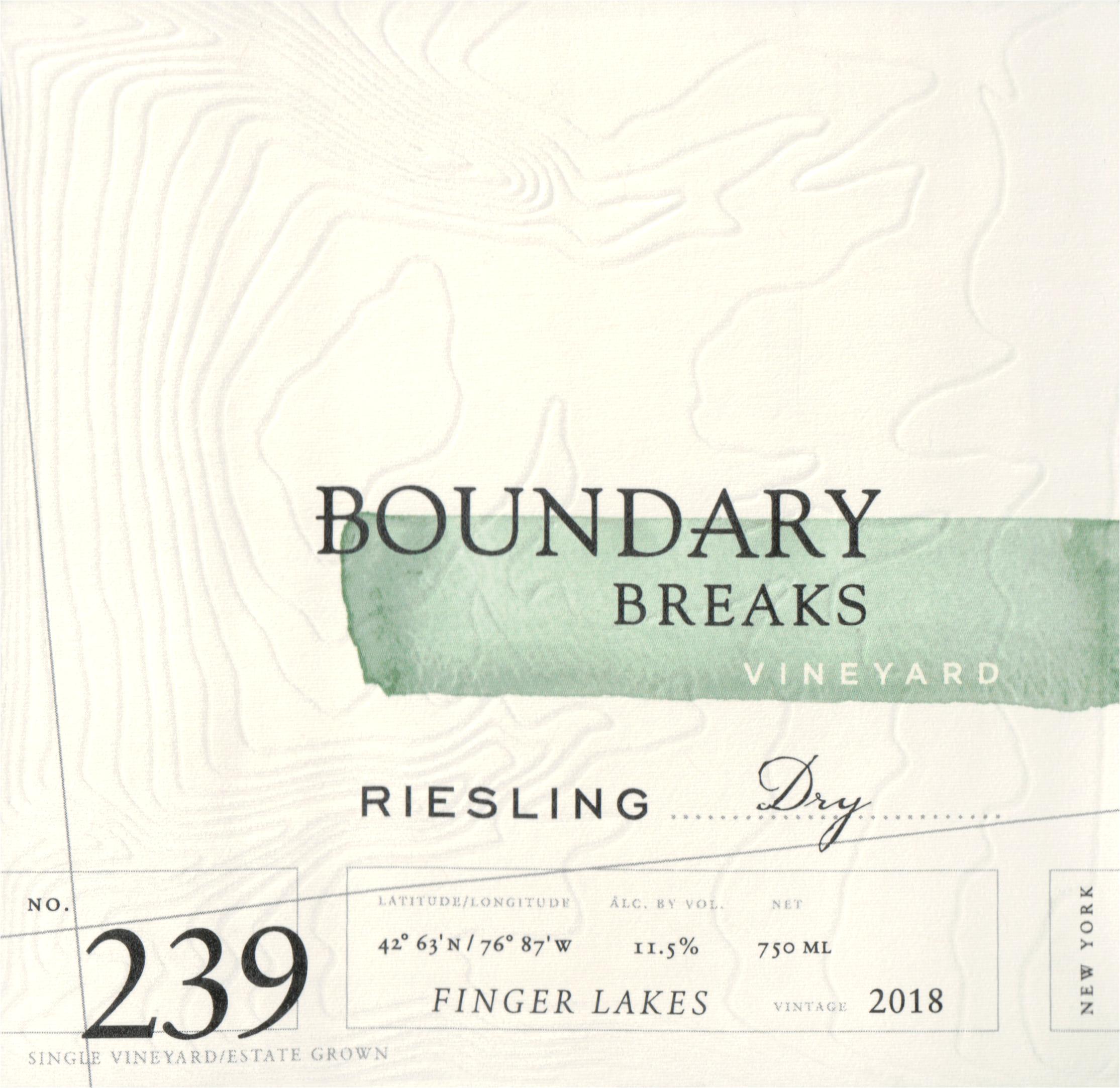 Boundary Breaks Riesling No. 239 2018