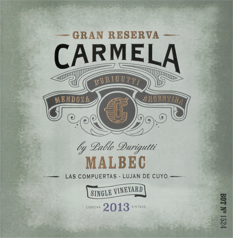 Carmela Gran Reserva Malbec 2013