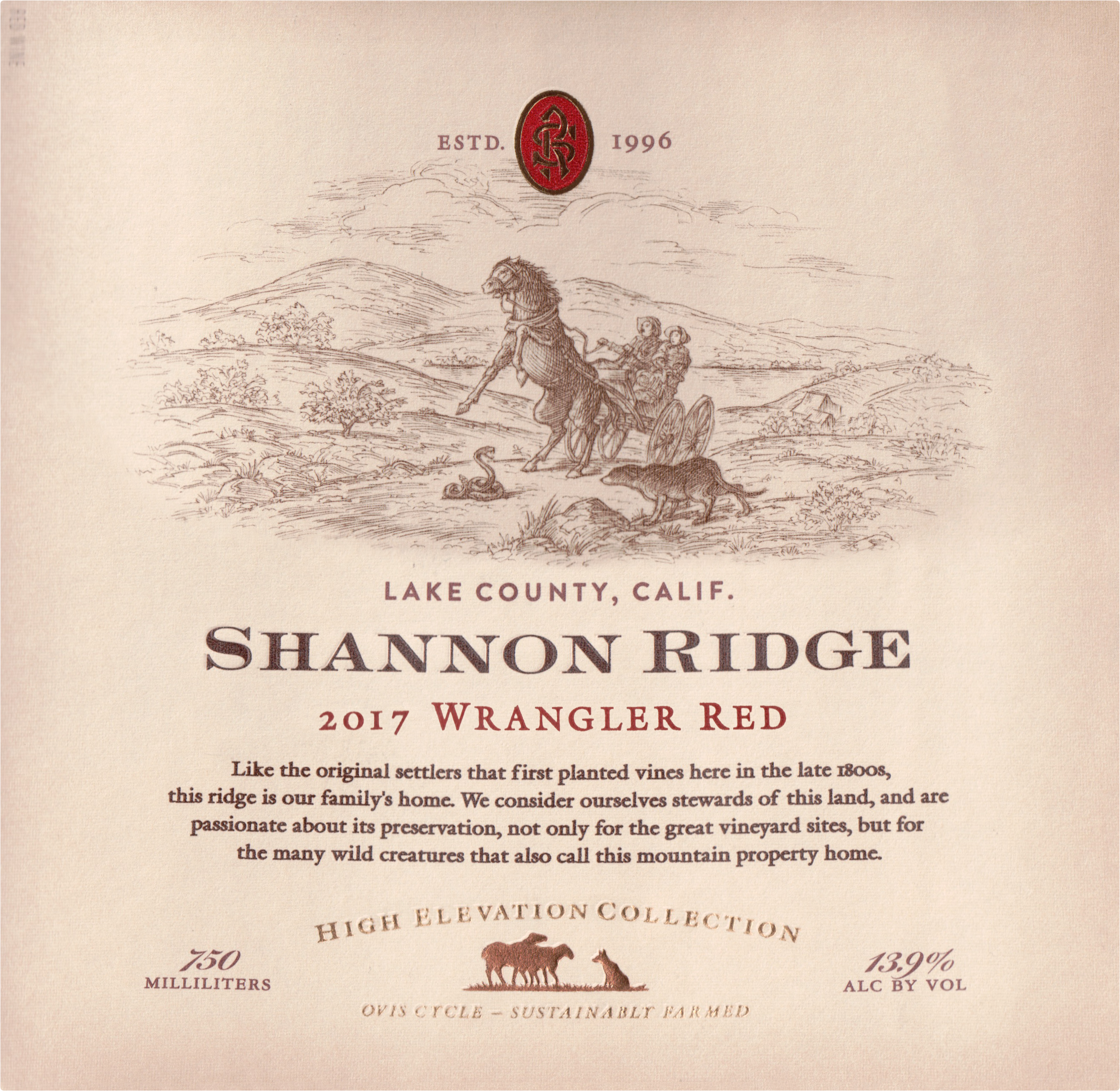 Shannon Ridge Wrangler Red Blend 2017