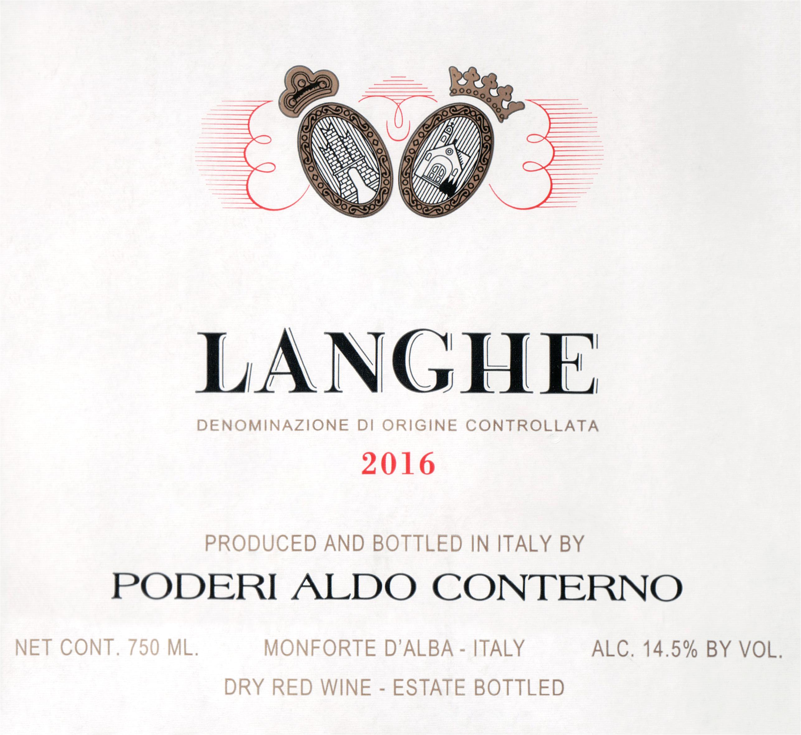 Aldo Conterno Langhe Rosso 2016