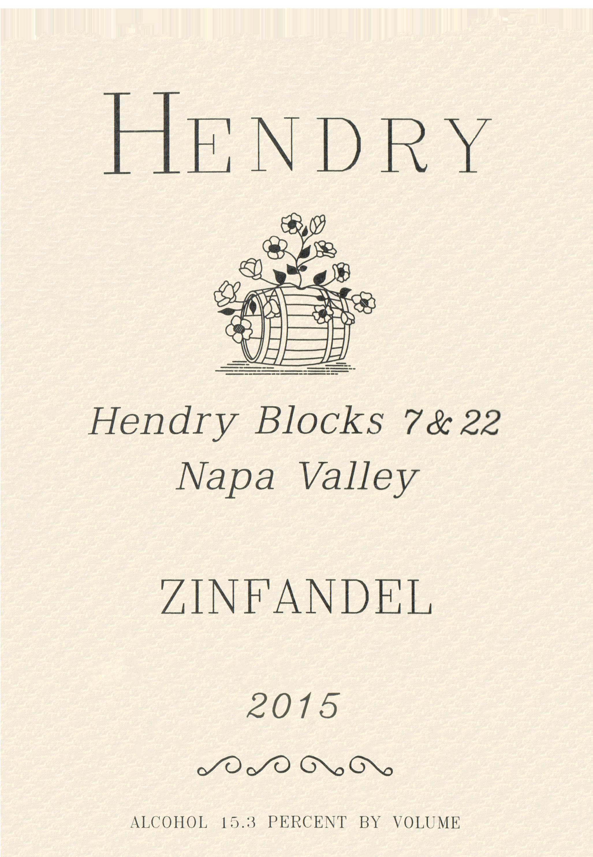Hendry Block 7 & 22 Zinfandel 2015