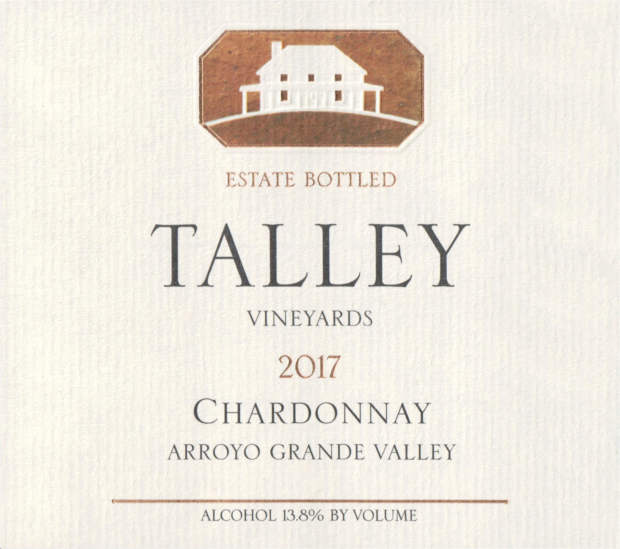 Talley Vineyards Estate Chardonnay Arroyo Grande 2017