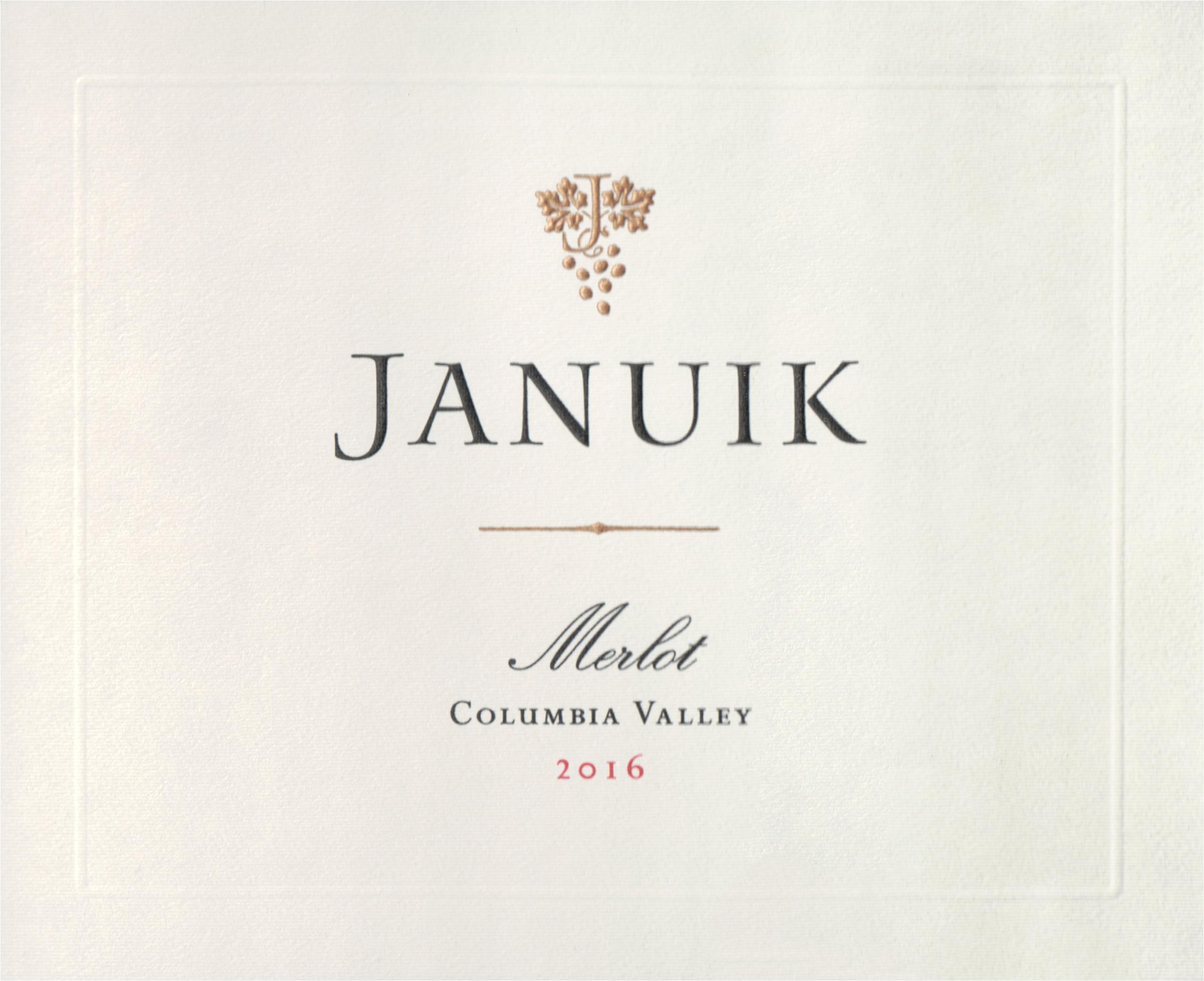 Januik Winery Merlot Columbia Valley 2016