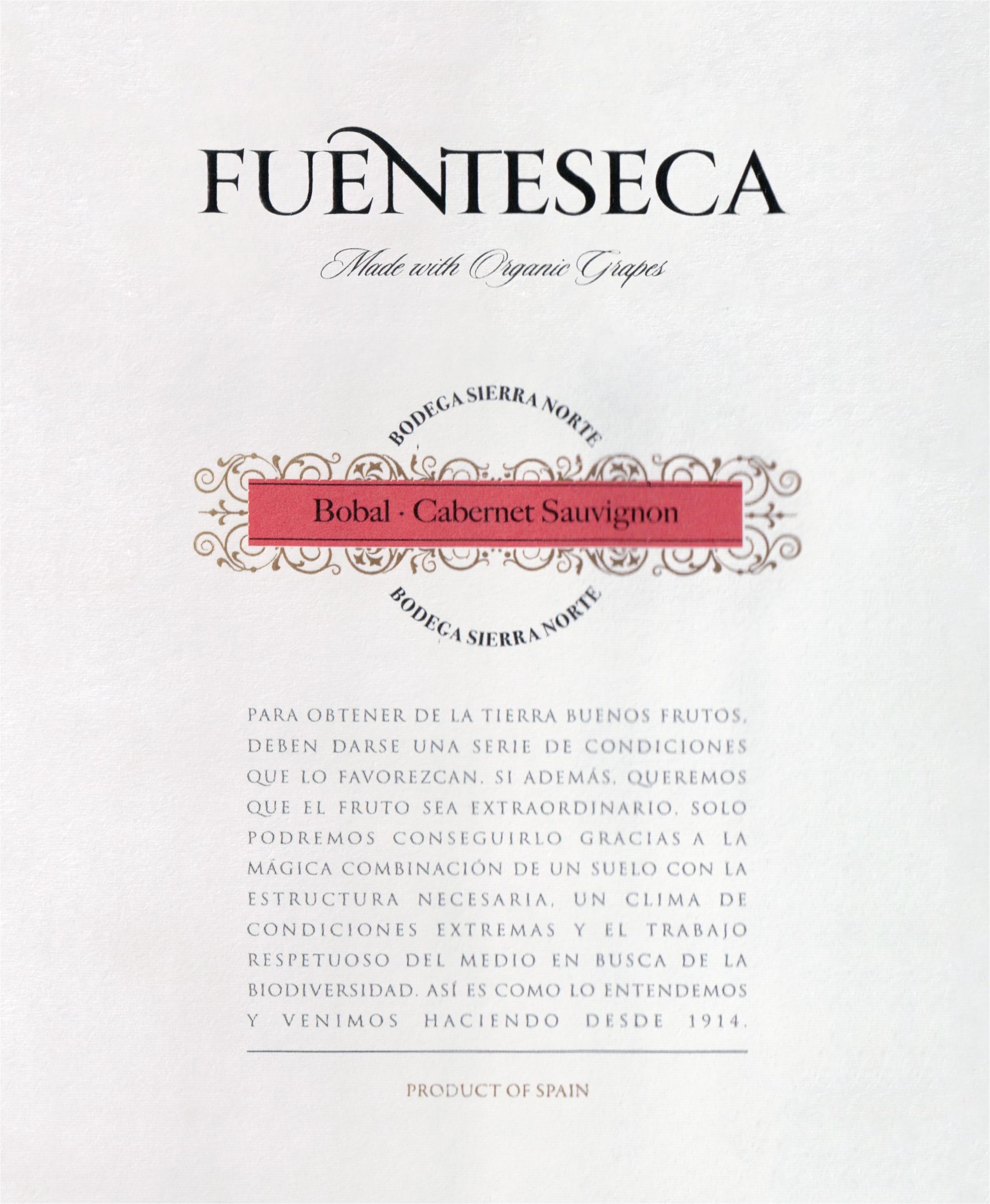 Fuenteseca Bobal Cabernet 2018