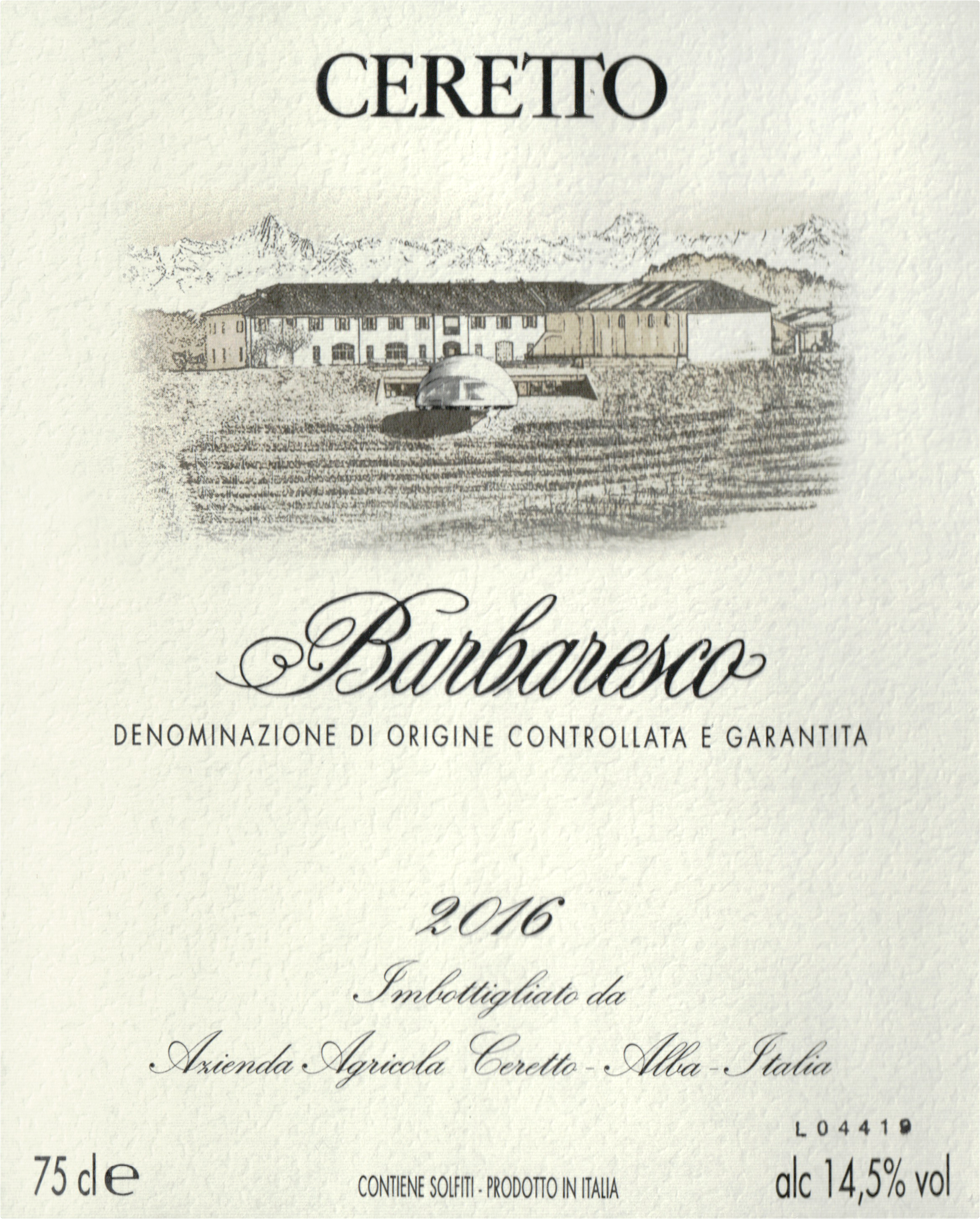 Ceretto Barbaresco 2016