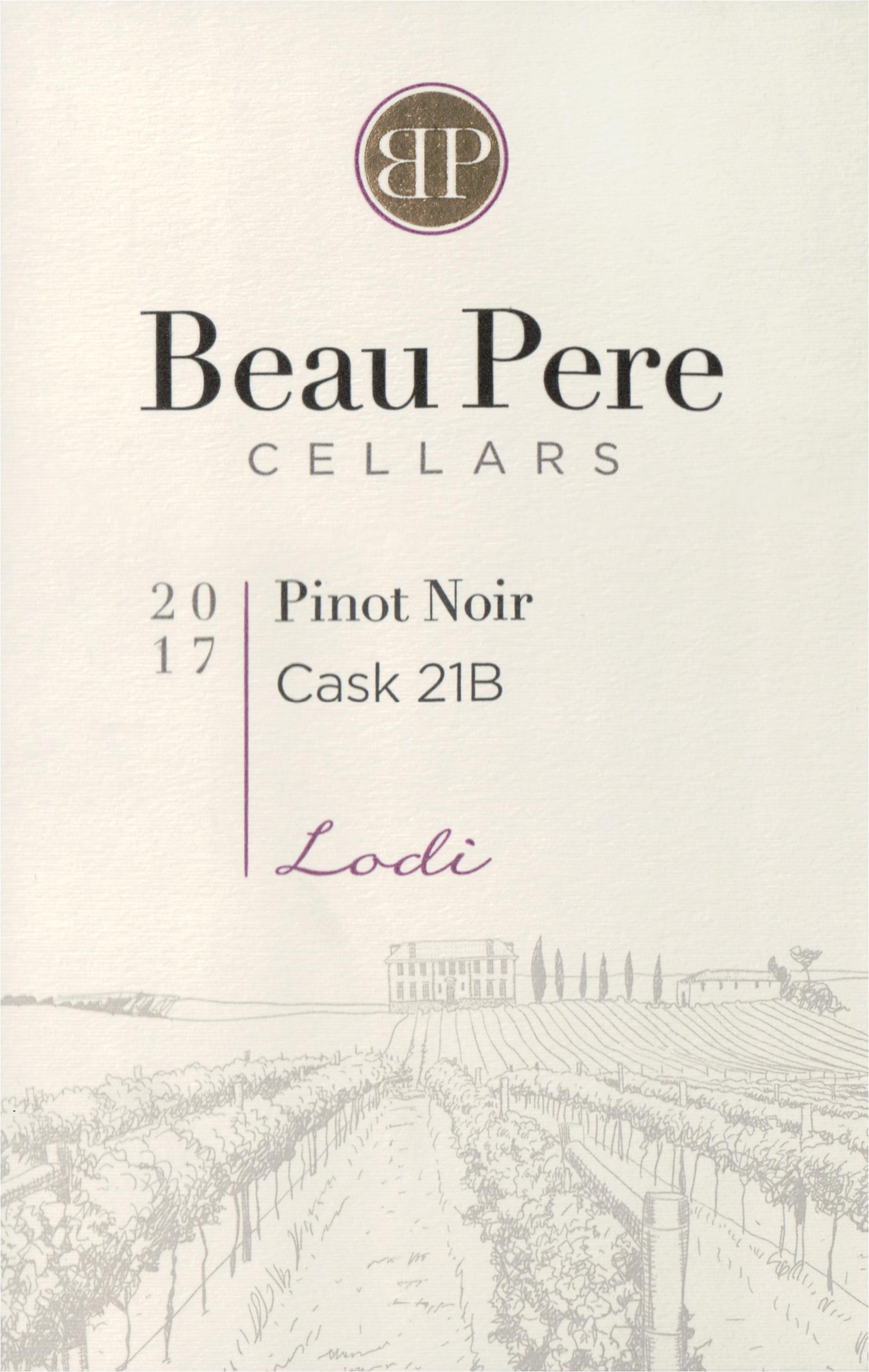 Beau Pere Lodi Pinot Noir Cask 21b 2017