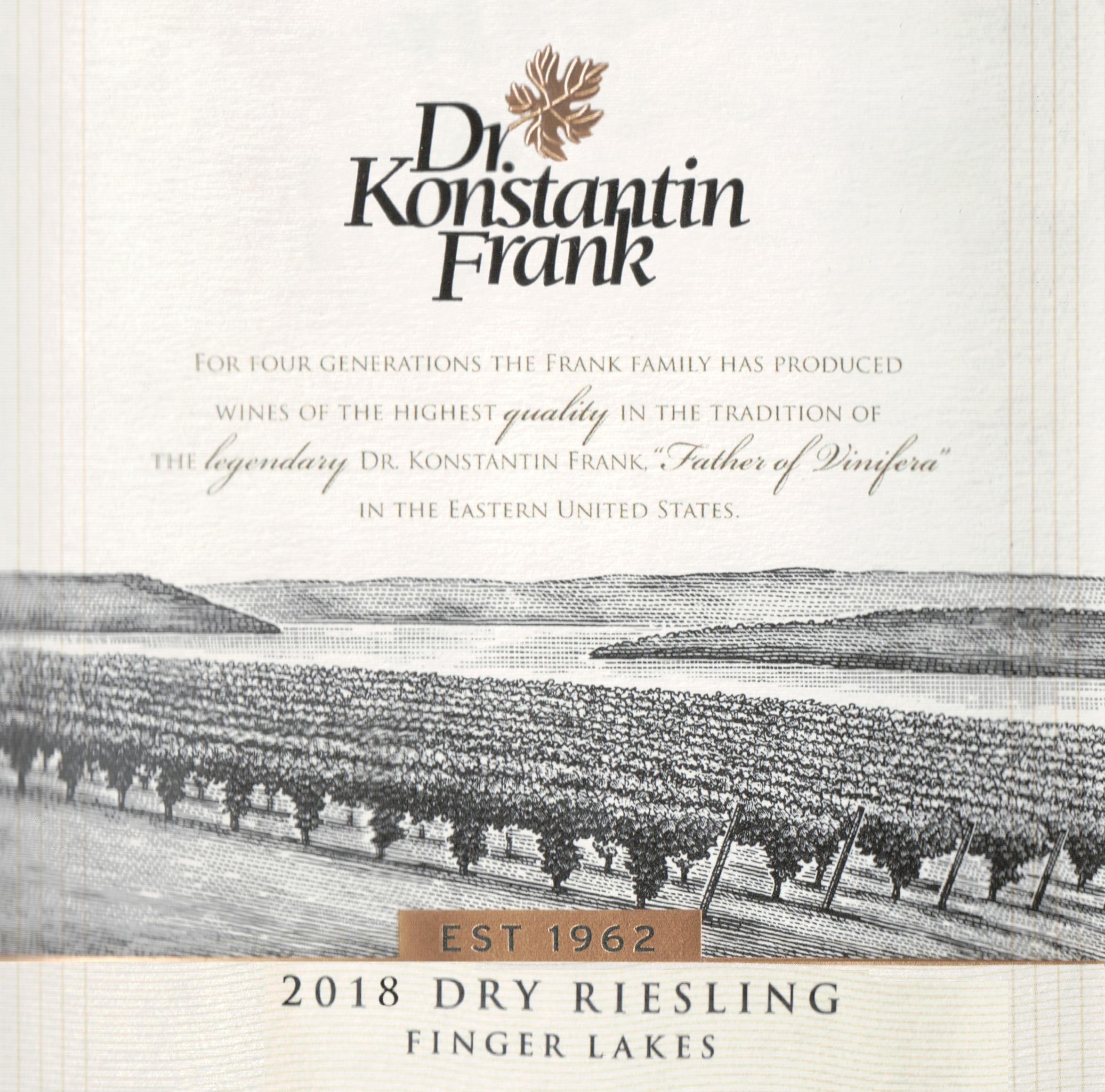 Dr. Konstantin Frank Riesling Dry 2018