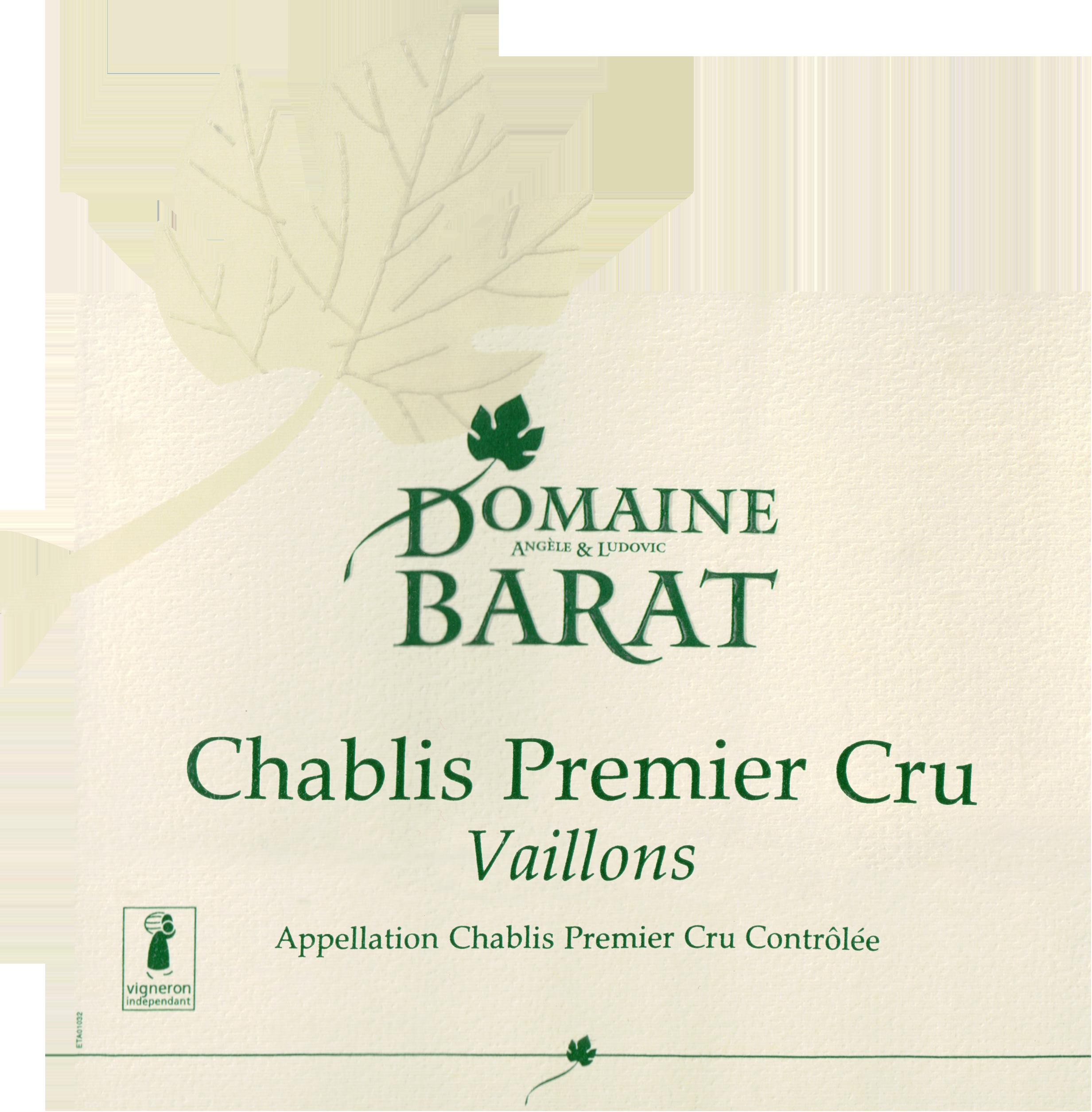 Domaine Barat Chablis 1er Cru Vaillons 2017