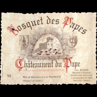 Label shot for 2015 Bosquet Des Papes Chateauneuf Du Pape Tradition