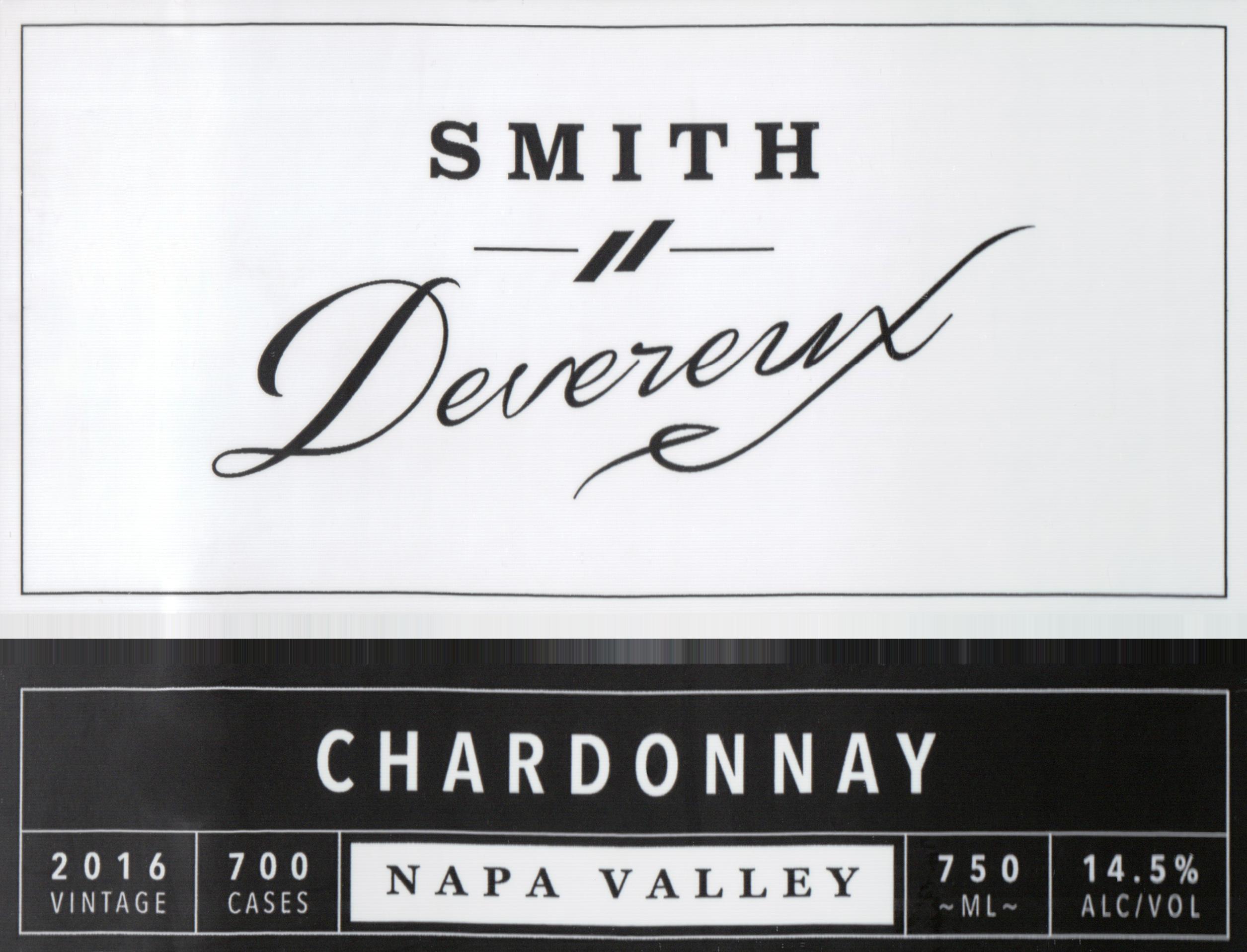 Smith & Devereux Chardonnay Napa Valley 2016