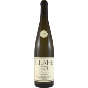 Bottle shot for 2018 Illahe Pinot Gris Willamette Valley