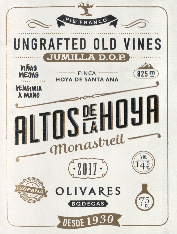 Olivares Altos De La Hoya Monastrell 2017