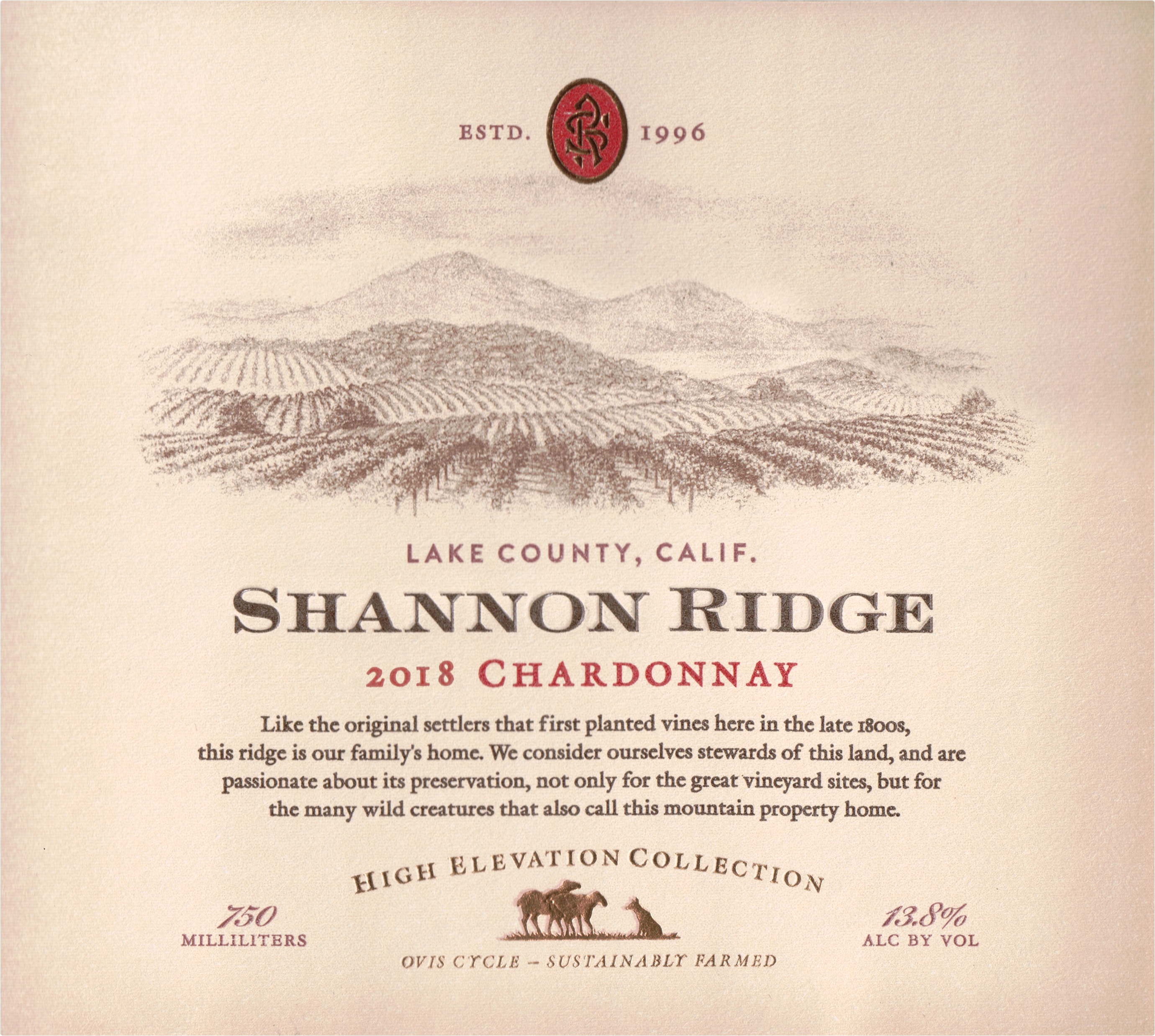 Shannon Ridge High Elevation Chardonnay 2018