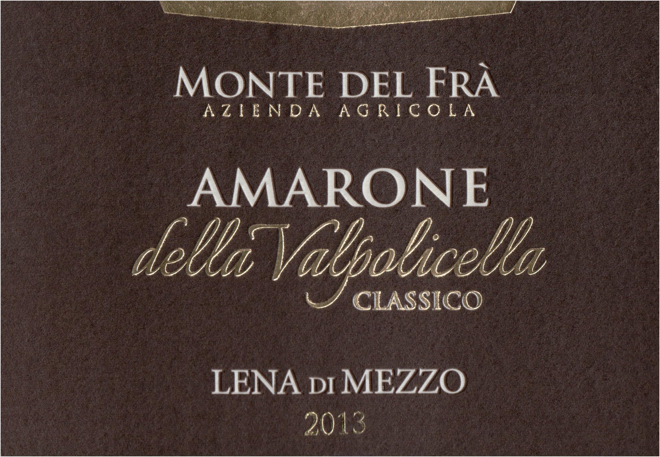 Monte Del Fra Amarone Della Valpolicella Classico 2013