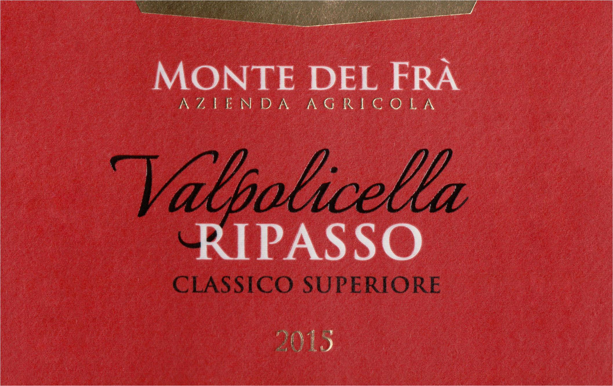 Monte Del Fra Valpolicella Ripasso Classico 2015