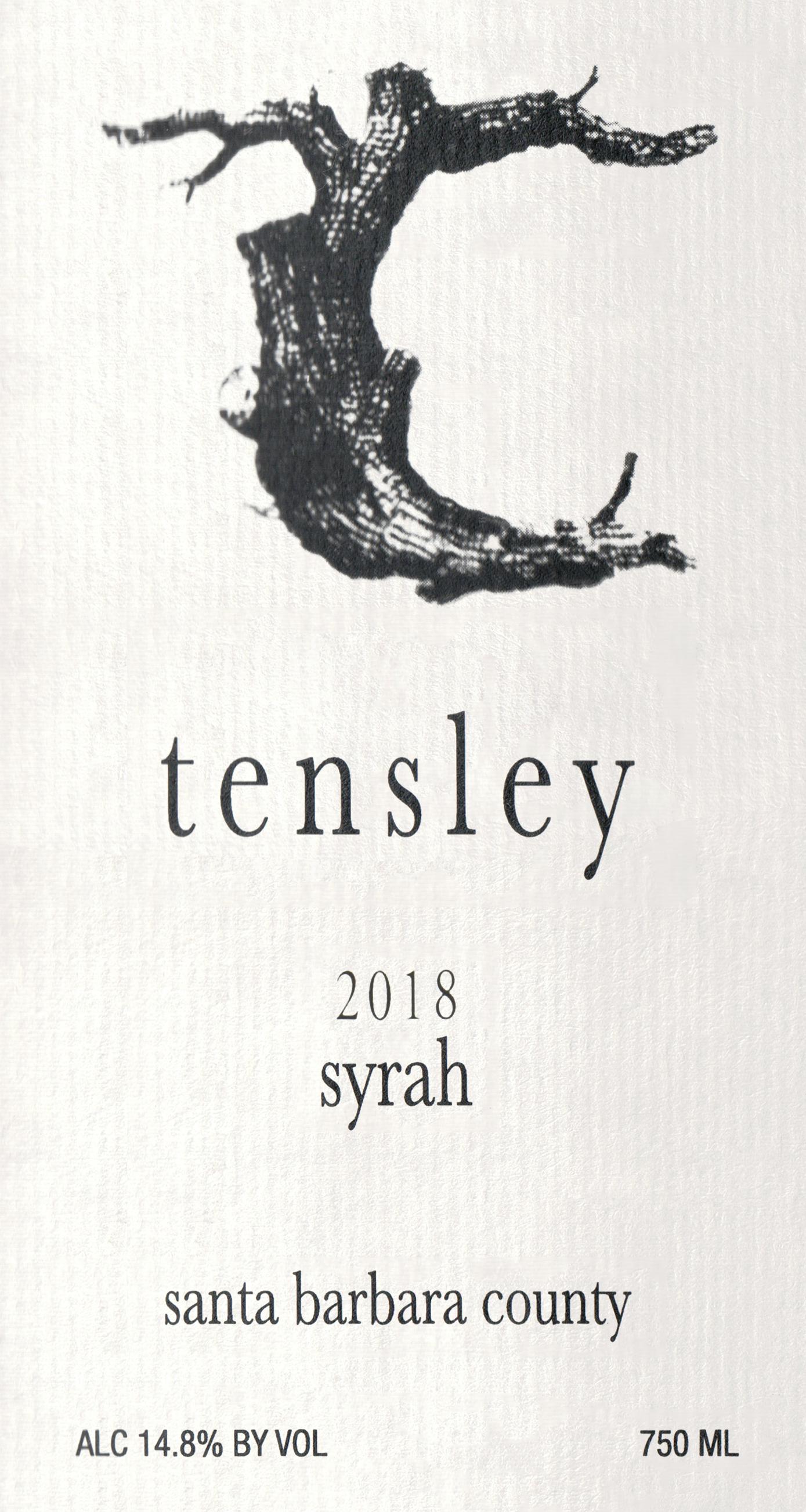 Tensley Santa Barbara Syrah 2018