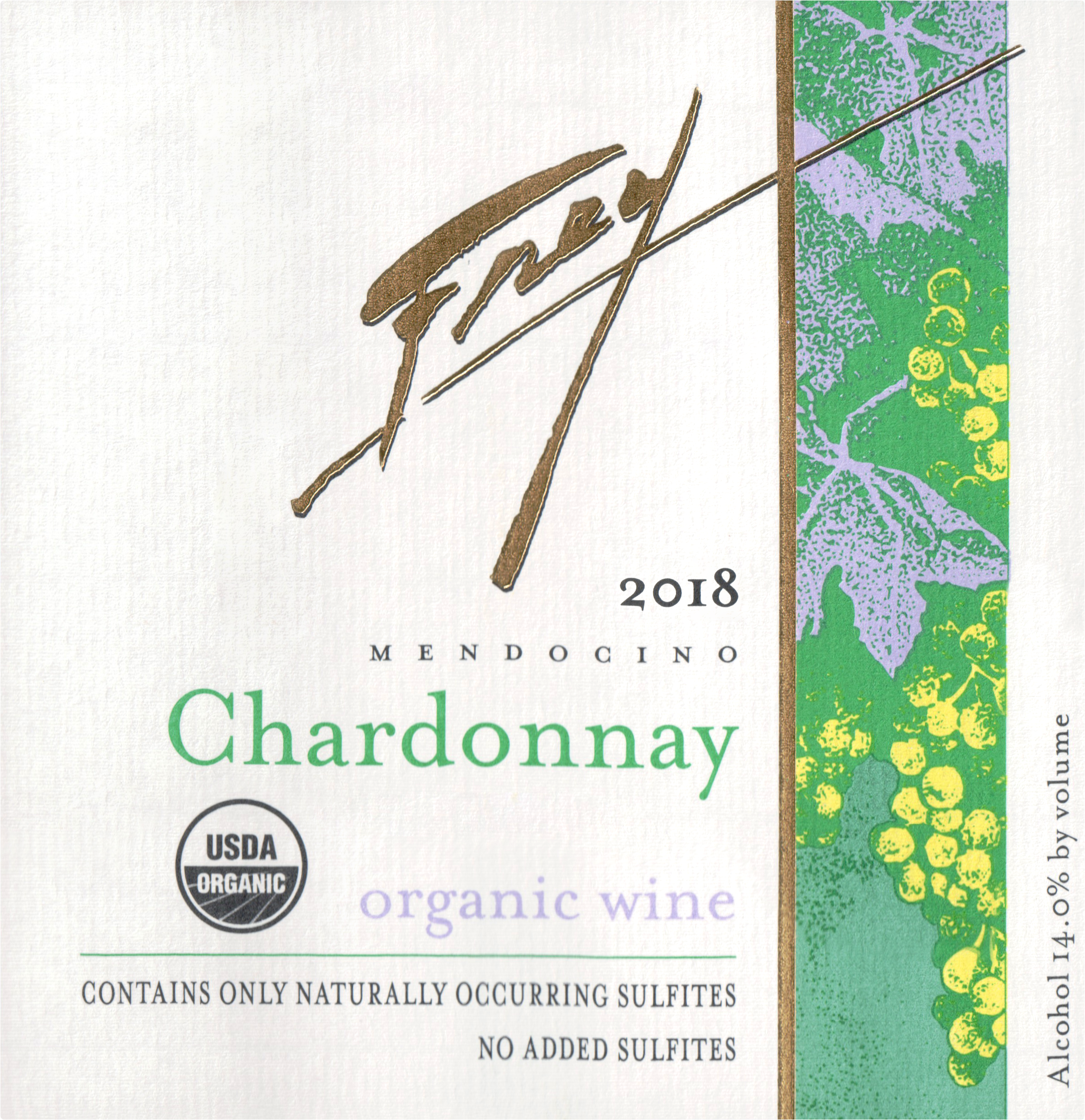 Frey Organic Chardonnay 2018