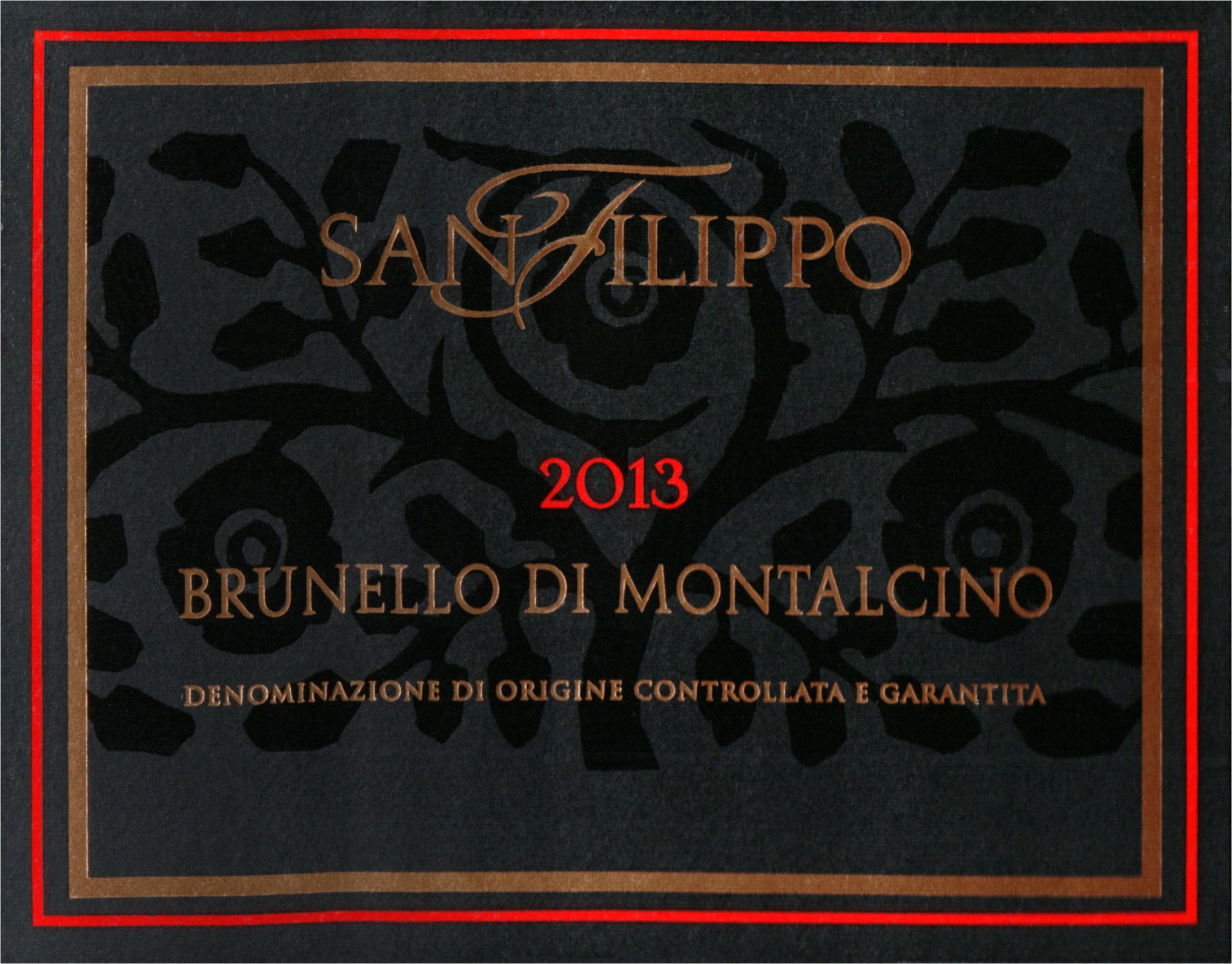 San Filippo Brunello Di Montalcino 2013