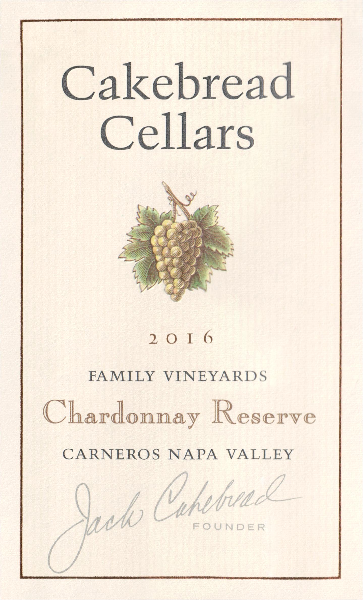 Cakebread Chardonnay Reserve 2016
