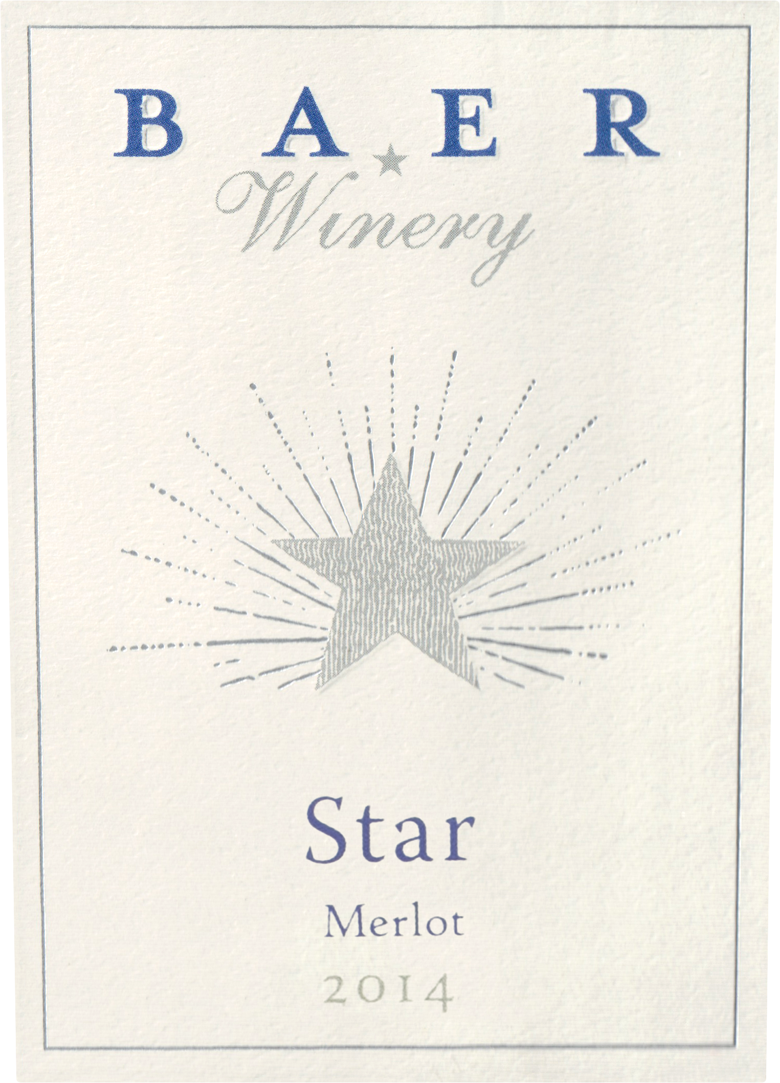 Baer Winery Star Stillwater Creek Vineyard 2014