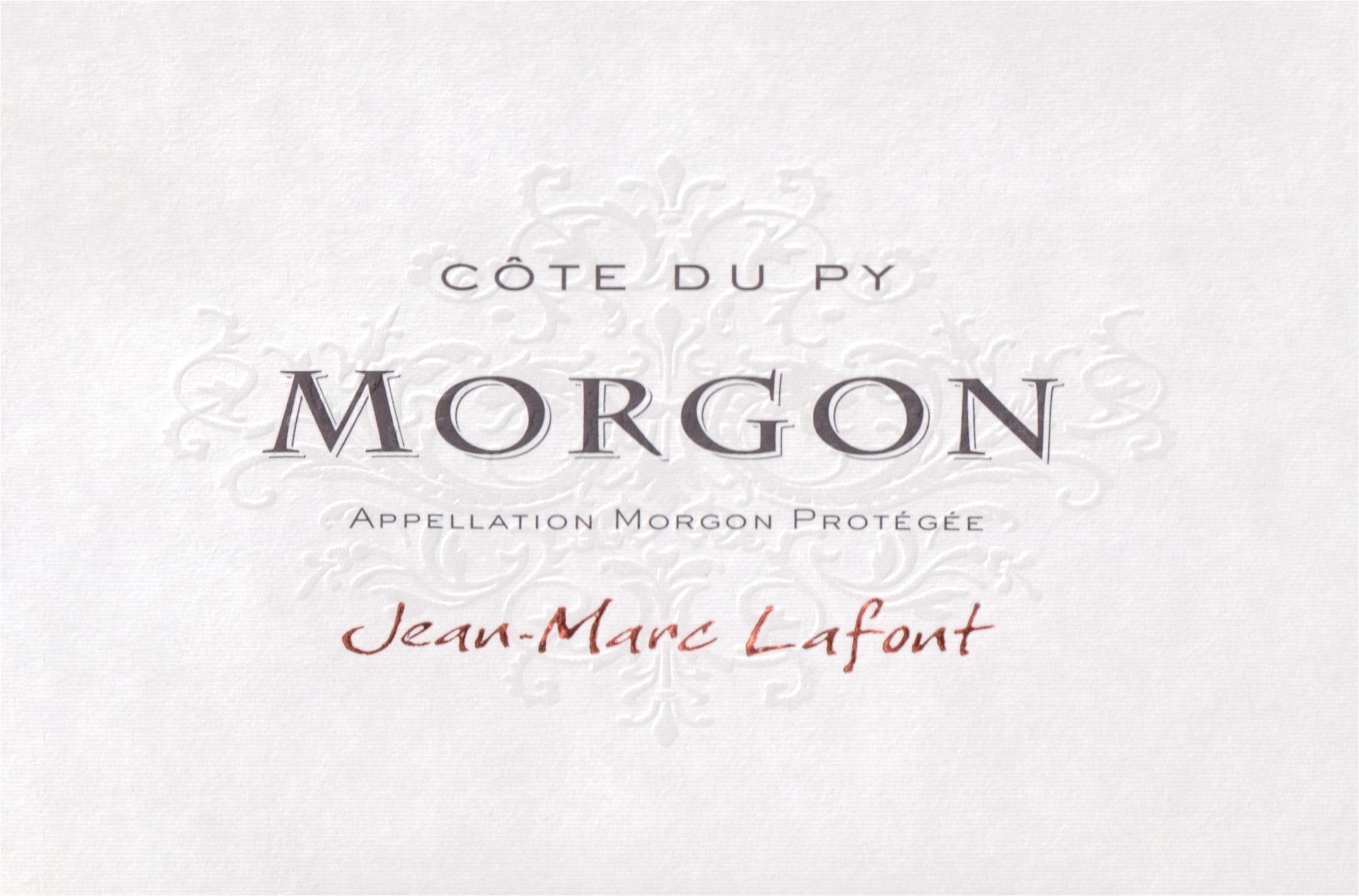 Jean Marc Lafont Morgon Cote Du Py 2018