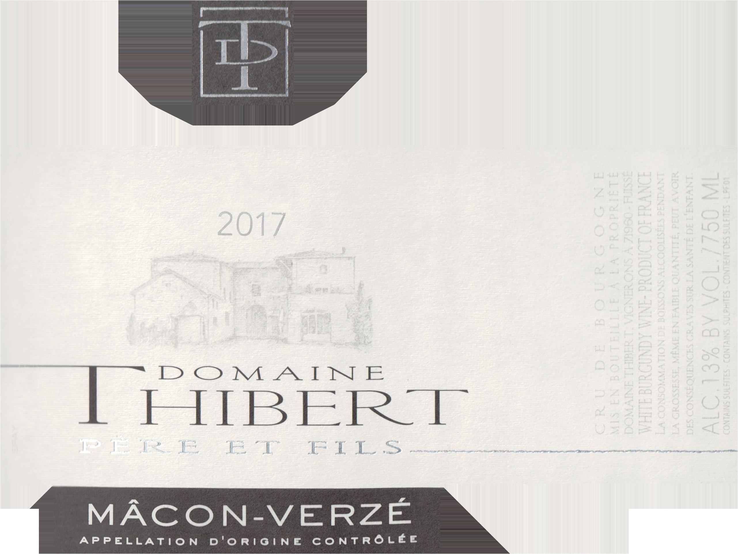 Domaine Thibert Macon Verze 2017