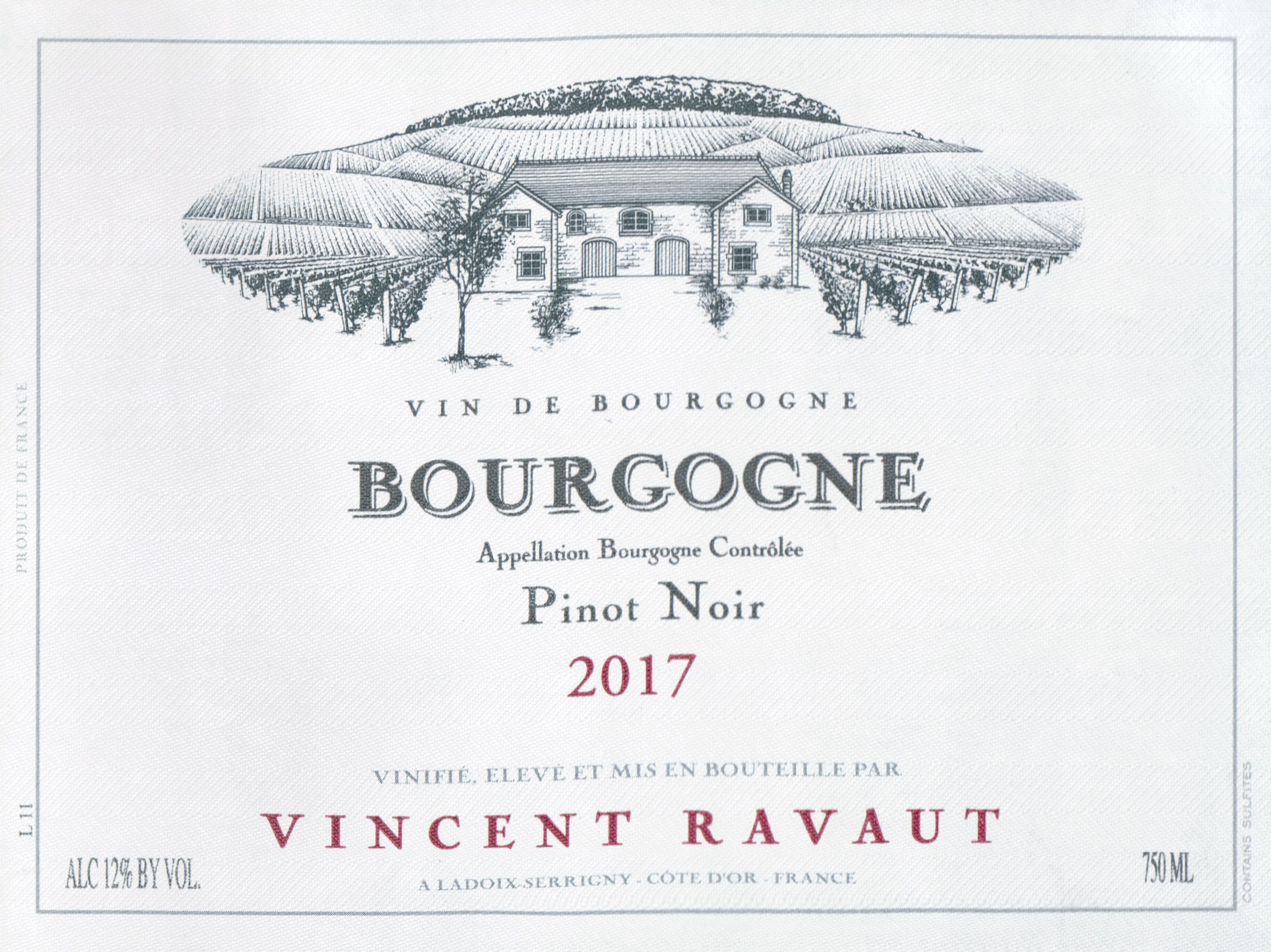 Domaine Vincent Ravaut Bourgogne Pinot Noir 2017