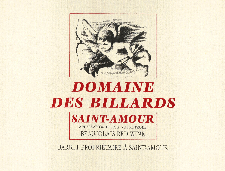 Barbet Saint Amour Domaine Des Billards 2018