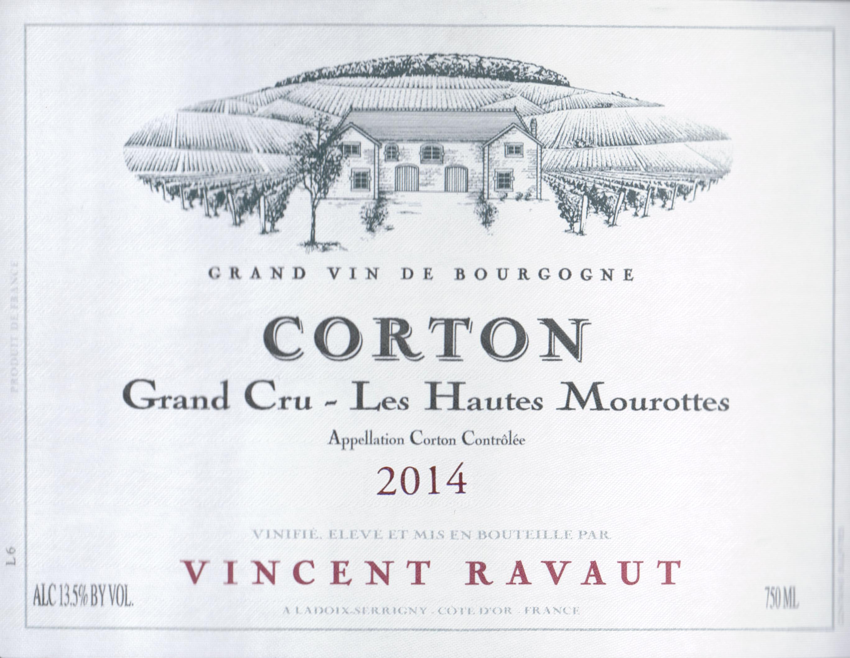 Domaine Vincent Ravaut Ladoix Les Haut Mourottes 2014