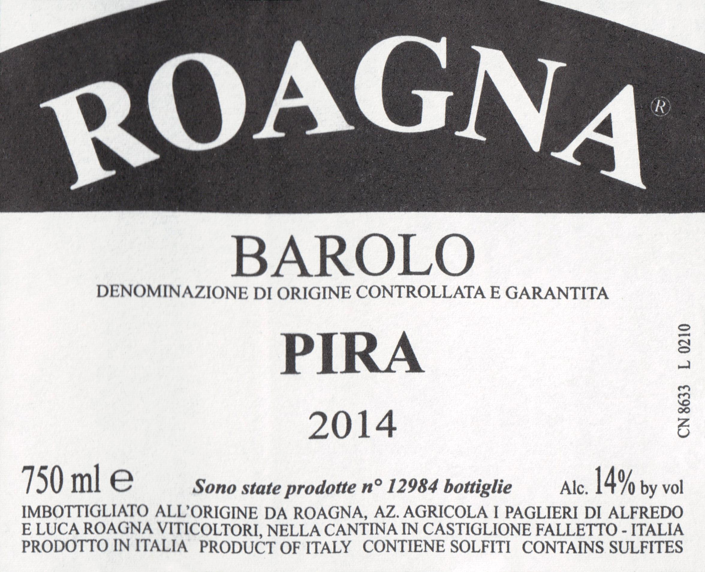 Roagna Barolo Pira 2014