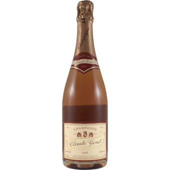 Bottle shot for  Claude Genet Champagne Grand Cru Brut Rose