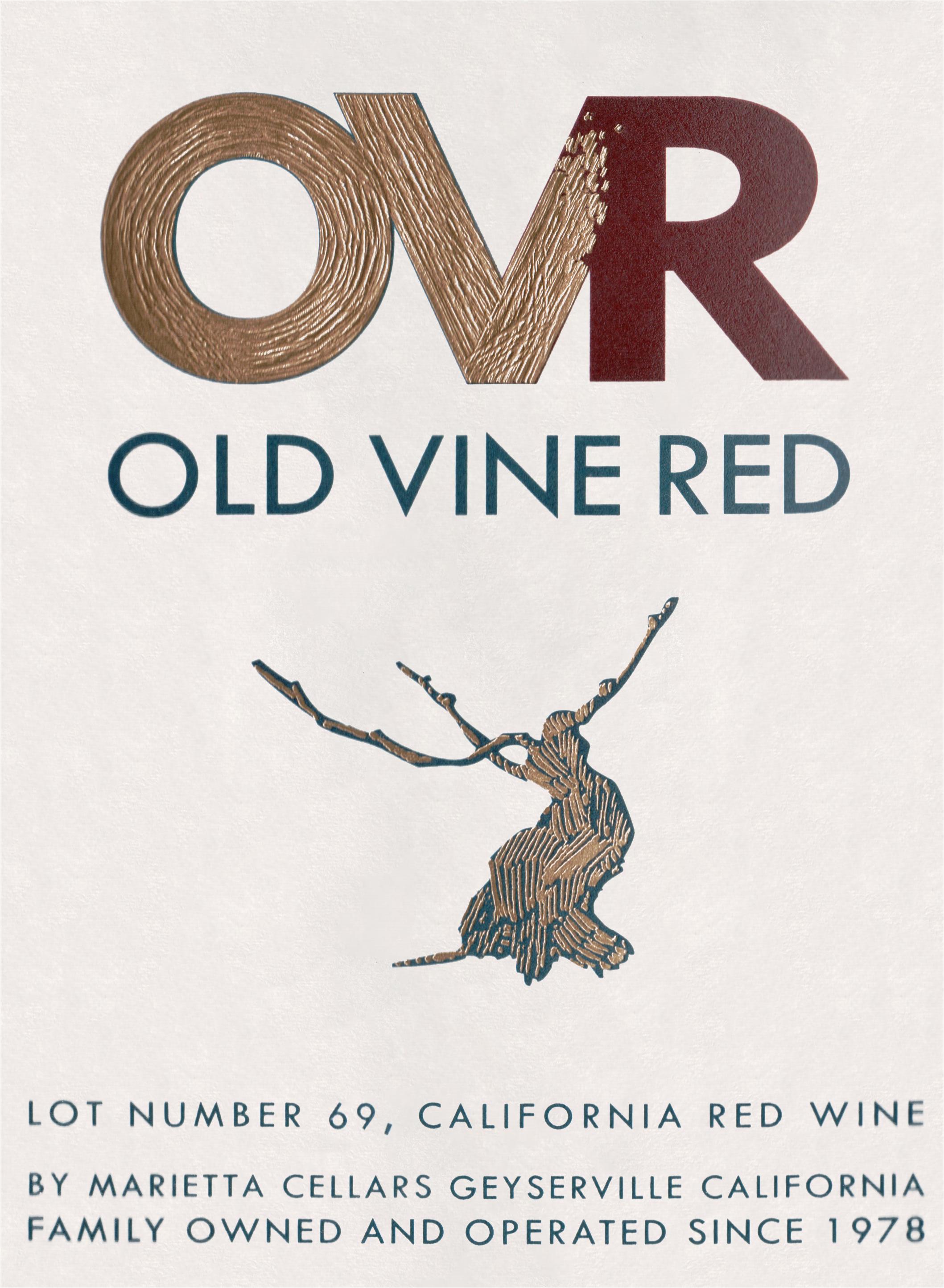 Marietta Wine Cellars Old Vine Red Lot 69