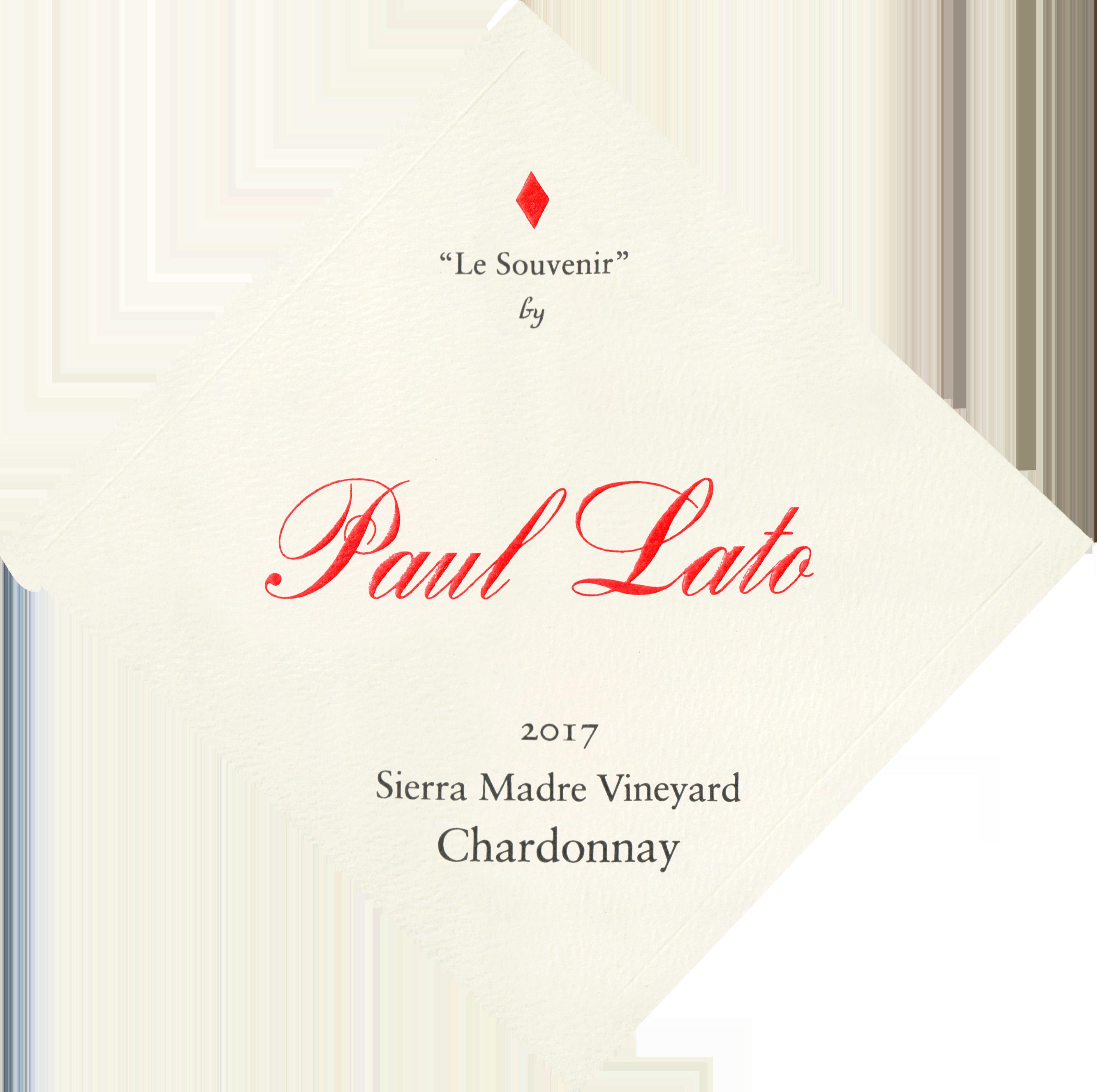 Paul Lato Le Souvenir Sierra Madre Vineyard Chardonnay 2017