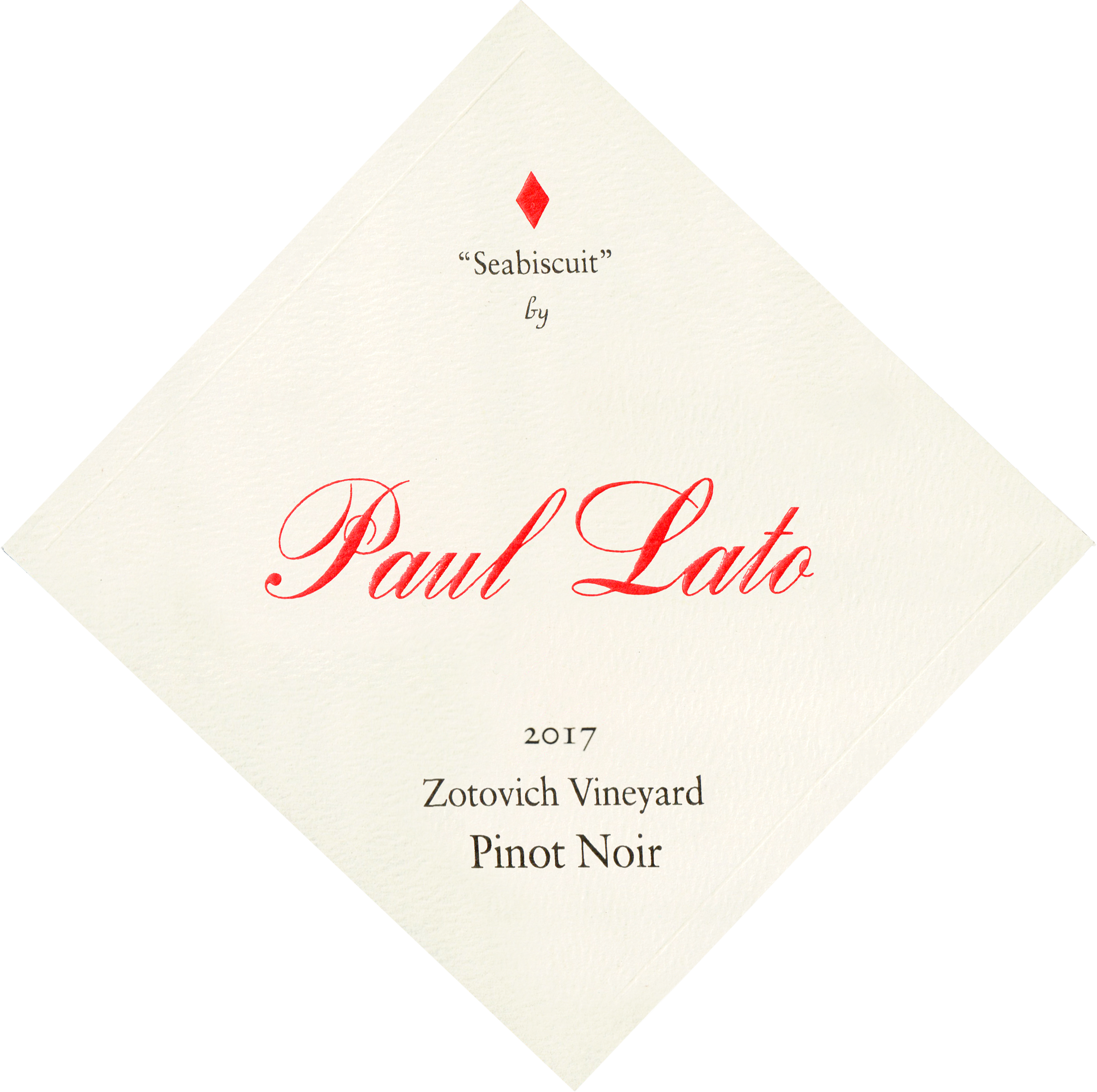 Paul Lato Seabiscuit Zotovich Vineyards Pinot Noir 2017