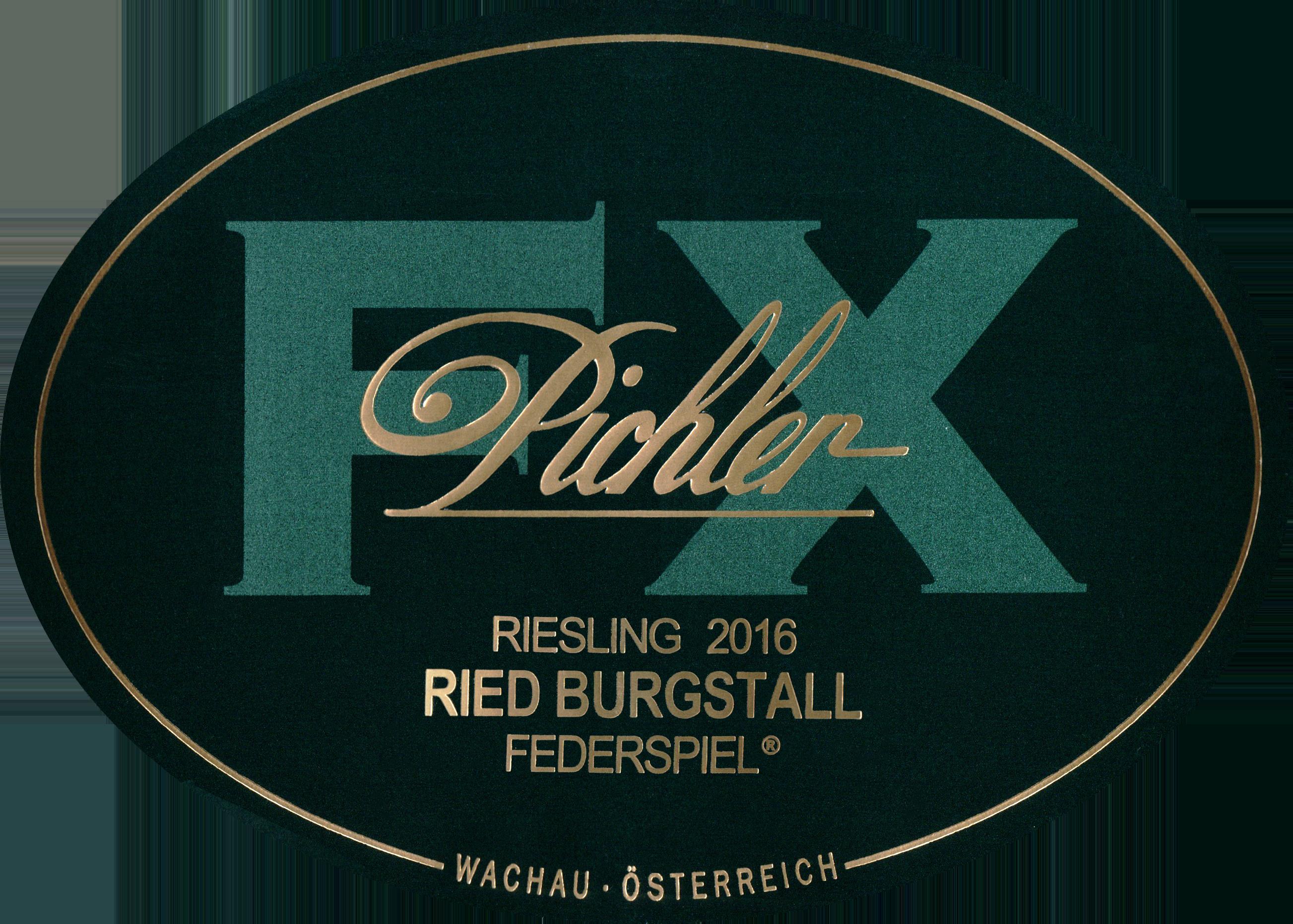 Fx Pichler Ried Burgstall Federspiel Riesling 2016