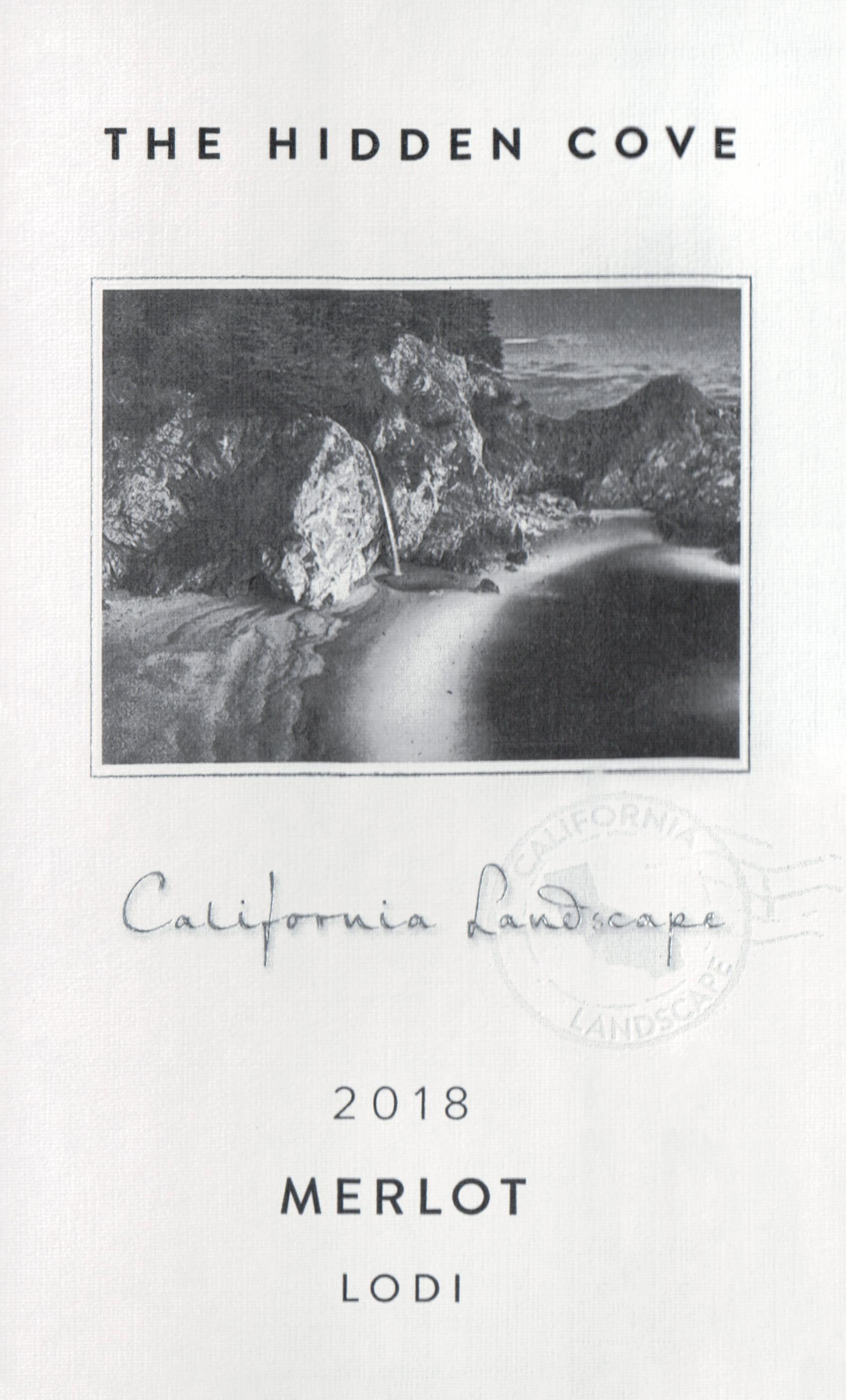 Hidden Cove Merlot California Landscapes 2018