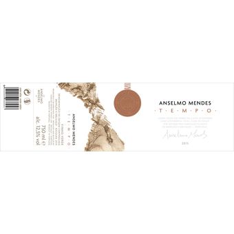 "Label shot for 2015 Anselmo Mendes Tempo ""Orange Wine"""