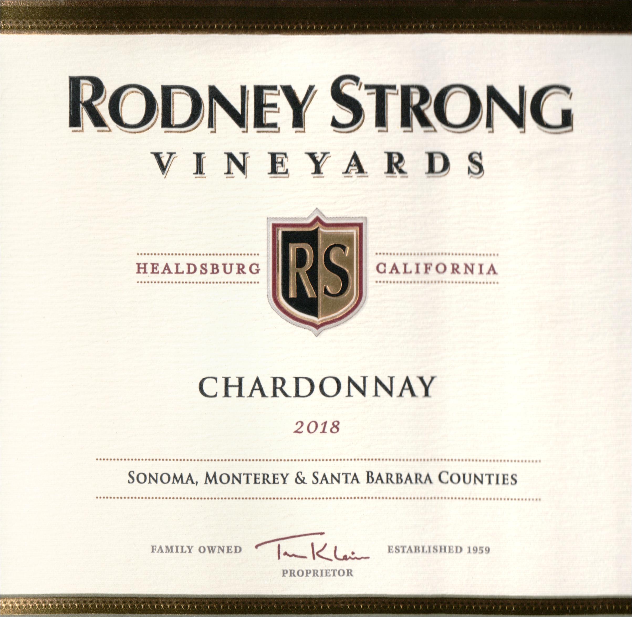 Rodney Strong Chardonnay 2018
